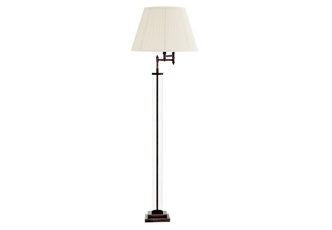 Торшер BeaufortТоршеры<br>Торшер Lamp Floor Beaufort - тонкий металлический каркас бронзового цвета декорирован прозрачным стеклом. Классический абажур изготовлен из белой плиссированной ткани. Шарнирные механизмы позволяют менять расстояние абажура от основания.&amp;lt;div&amp;gt;&amp;lt;br&amp;gt;&amp;lt;/div&amp;gt;&amp;lt;div&amp;gt;&amp;lt;div&amp;gt;Цоколь: E27&amp;lt;/div&amp;gt;&amp;lt;div&amp;gt;Мощность: 40W&amp;lt;/div&amp;gt;&amp;lt;div&amp;gt;Количество ламп: 1&amp;lt;/div&amp;gt;&amp;lt;/div&amp;gt;<br><br>Material: Металл