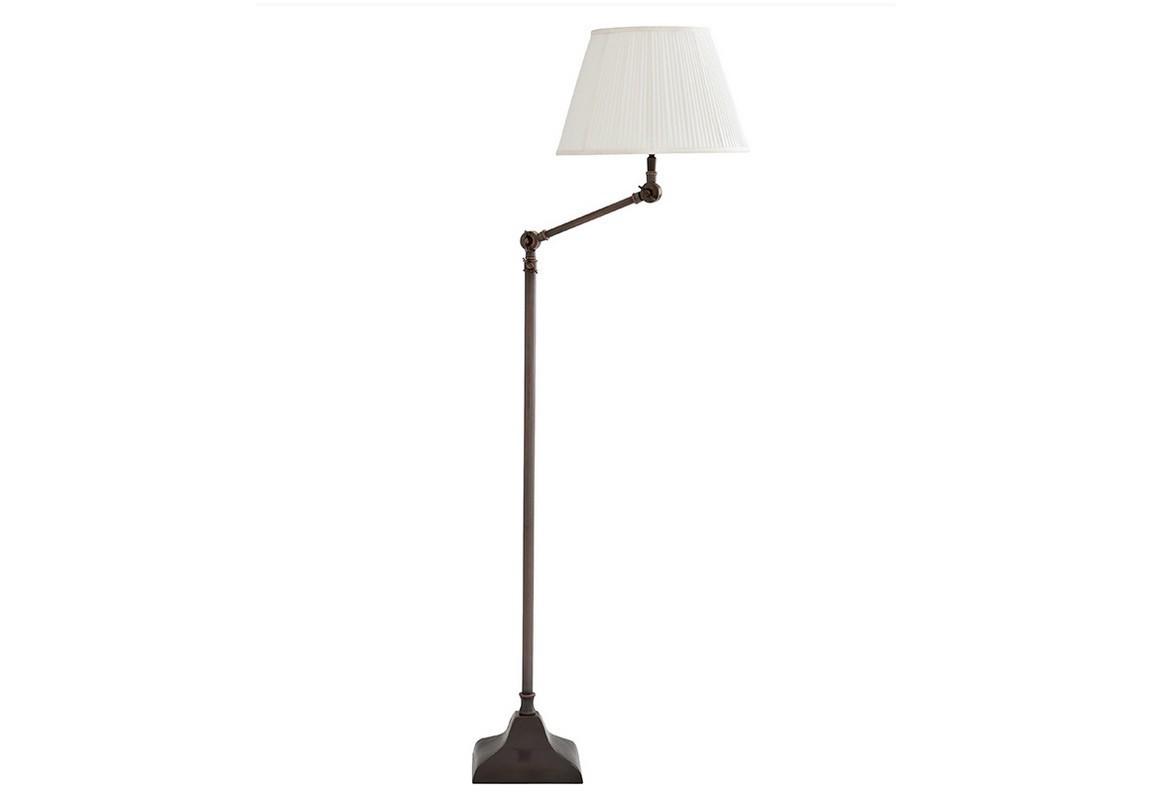 Торшер MedeaТоршеры<br>Торшер Lamp Floor Medea. На тонкий металлический каркас бронзового цвета устанавливается абажур, изготовленный из белой плиссированной ткани. Шарнирные соединения позволяют регулировать высоту и угол наклона абажура. Светильник в комплекте с диммером.&amp;lt;div&amp;gt;&amp;lt;br&amp;gt;&amp;lt;/div&amp;gt;&amp;lt;div&amp;gt;&amp;lt;div&amp;gt;Цоколь: E27&amp;lt;/div&amp;gt;&amp;lt;div&amp;gt;Мощность: 40W&amp;lt;/div&amp;gt;&amp;lt;div&amp;gt;Количество ламп: 1&amp;lt;/div&amp;gt;&amp;lt;/div&amp;gt;<br><br>Material: Металл<br>Высота см: 130