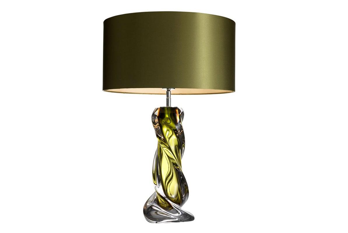 Настольная лампа CarnegieДекоративные лампы<br>Настольная лампа Table Lamp Carnegie на основании из стекла зеленого цвета. Текстильный абажур зеленого цвета скрывает лампу.&amp;lt;div&amp;gt;&amp;lt;br&amp;gt;&amp;lt;/div&amp;gt;&amp;lt;div&amp;gt;Вид цоколя: Е27&amp;lt;/div&amp;gt;&amp;lt;div&amp;gt;Мощность: 60W&amp;lt;/div&amp;gt;&amp;lt;div&amp;gt;Количество ламп: 1&amp;lt;/div&amp;gt;&amp;lt;div&amp;gt;&amp;lt;br&amp;gt;&amp;lt;div&amp;gt;&amp;lt;br&amp;gt;&amp;lt;/div&amp;gt;&amp;lt;/div&amp;gt;<br><br>Material: Стекло<br>Height см: 65<br>Diameter см: 43