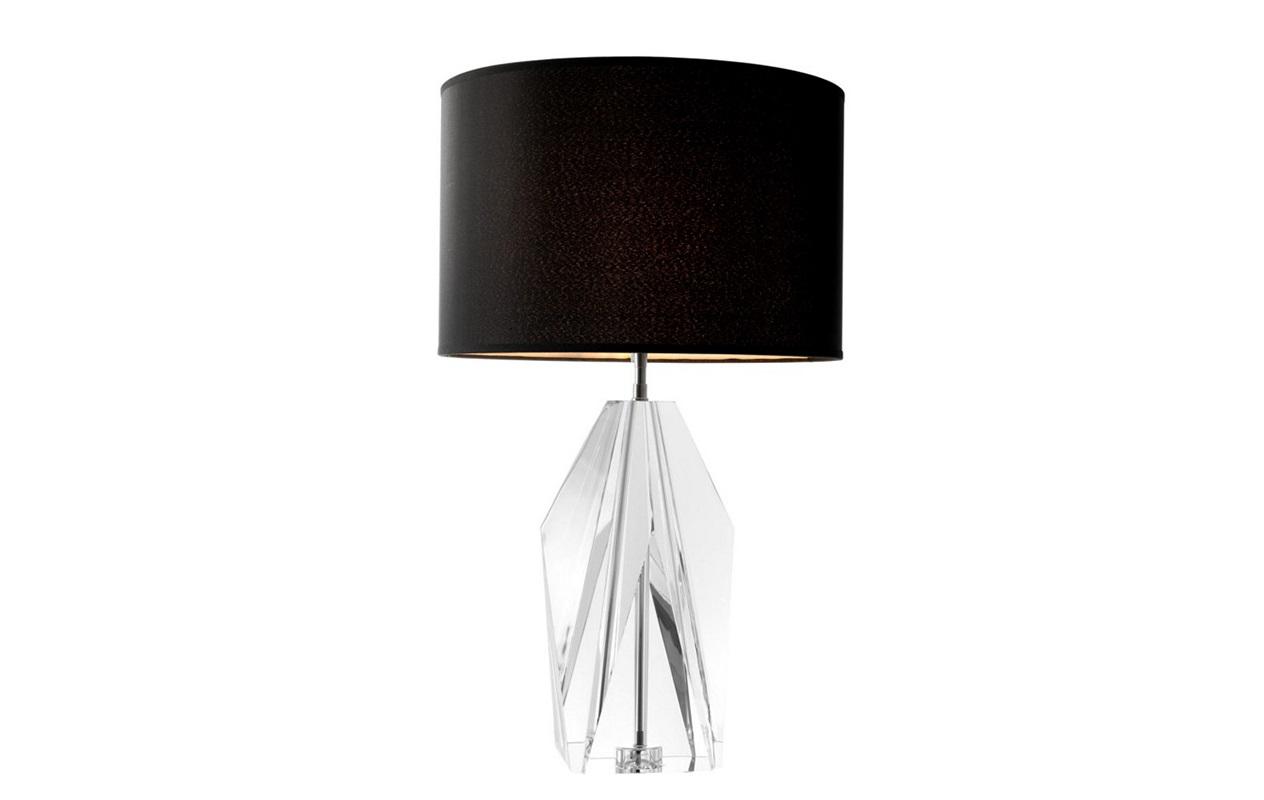 Настольная лампа SetaiДекоративные лампы<br>Настольная лампа Table Lamp Setai на основании из прозрачного стекла. Текстильный абажур черного цвета скрывает лампу.&amp;lt;div&amp;gt;&amp;lt;br&amp;gt;&amp;lt;/div&amp;gt;&amp;lt;div&amp;gt;Вид цоколя: Е27&amp;lt;/div&amp;gt;&amp;lt;div&amp;gt;Мощность: 60W&amp;lt;/div&amp;gt;&amp;lt;div&amp;gt;Количество ламп: 1&amp;lt;/div&amp;gt;&amp;lt;div&amp;gt;&amp;lt;br&amp;gt;&amp;lt;/div&amp;gt;<br><br>Material: Металл<br>Height см: 71,5<br>Diameter см: 43