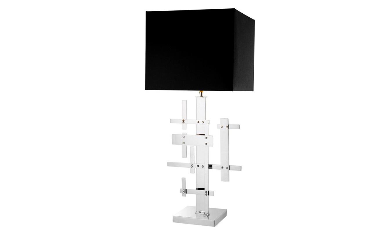 Настольная лампа TortugaДекоративные лампы<br>Настольная лампа Tortuga на основании из никелированного металла. Текстильный абажур черного цвета скрывает лампу.&amp;lt;div&amp;gt;&amp;lt;br&amp;gt;&amp;lt;/div&amp;gt;&amp;lt;div&amp;gt;Вид цоколя: Е27&amp;lt;/div&amp;gt;&amp;lt;div&amp;gt;Мощность: 40W&amp;lt;/div&amp;gt;&amp;lt;div&amp;gt;Количество ламп: 1&amp;lt;/div&amp;gt;&amp;lt;div&amp;gt;&amp;lt;br&amp;gt;&amp;lt;/div&amp;gt;<br><br>Material: Металл<br>Ширина см: 35.0<br>Высота см: 87.0<br>Глубина см: 32.0