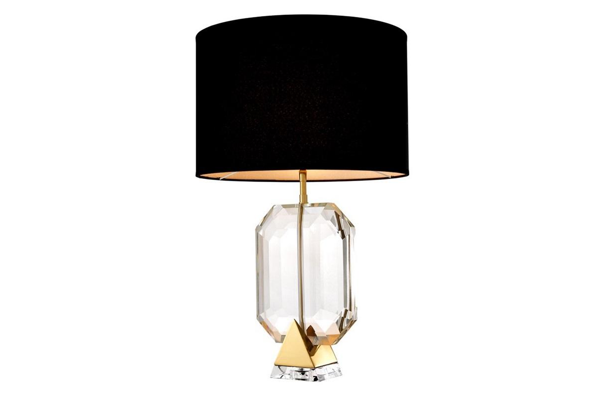 Настольная лампа EmeraldДекоративные лампы<br>Настольная лампа Table Lamp Emerald на основании из металла золотого цвета. Текстильный абажур черного цвета скрывает лампу.&amp;amp;nbsp;&amp;lt;div&amp;gt;Ваза выполнена их прозрачного стекла в виде драгоценного камня.&amp;lt;/div&amp;gt;&amp;lt;div&amp;gt;&amp;lt;br&amp;gt;&amp;lt;/div&amp;gt;&amp;lt;div&amp;gt;Вид цоколя: Е27&amp;lt;/div&amp;gt;&amp;lt;div&amp;gt;Мощность: 40W&amp;lt;/div&amp;gt;&amp;lt;div&amp;gt;Количество ламп: 1&amp;lt;/div&amp;gt;&amp;lt;div&amp;gt;&amp;lt;br&amp;gt;&amp;lt;/div&amp;gt;<br><br>Material: Металл<br>Height см: 70<br>Diameter см: 45