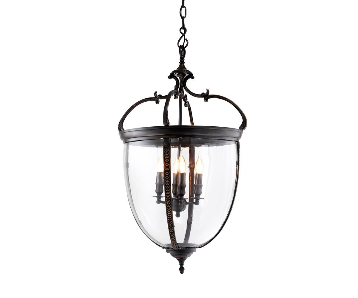 Подвесной светильникПодвесные светильники<br>Подвесной светильник-лантерна из коллекции Lantern Spencer XL на арматуре из металла темно-коричневого цвета. Створки плафона выполнены из прозрачного стекла. Высота светильника регулируется за счет звеньев цепи.&amp;amp;nbsp;&amp;lt;div&amp;gt;&amp;lt;br&amp;gt;&amp;lt;/div&amp;gt;&amp;lt;div&amp;gt;&amp;lt;div&amp;gt;Цоколь: E14&amp;lt;/div&amp;gt;&amp;lt;div&amp;gt;Мощность: 40W&amp;lt;/div&amp;gt;&amp;lt;div&amp;gt;Количество ламп: 4&amp;lt;/div&amp;gt;&amp;lt;/div&amp;gt;<br><br>Material: Металл<br>Height см: 90<br>Diameter см: 49