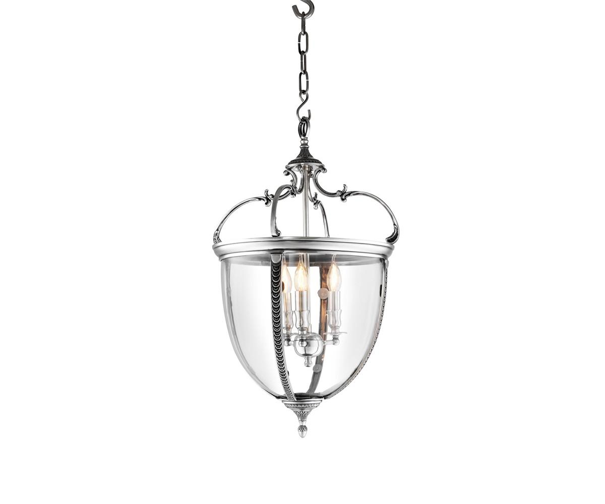 Подвесной светильникПодвесные светильники<br>Подвесной светильник-лантерна из коллекции Lantern Spencer на арматуре из металла цвета античное серебро. Створки плафона выполнены из прозрачного стекла. Высота светильника регулируется за счет звеньев цепи.&amp;amp;nbsp;&amp;lt;div&amp;gt;&amp;lt;br&amp;gt;&amp;lt;/div&amp;gt;&amp;lt;div&amp;gt;&amp;lt;div&amp;gt;Цоколь: E14&amp;lt;/div&amp;gt;&amp;lt;div&amp;gt;Мощность: 40W&amp;lt;/div&amp;gt;&amp;lt;div&amp;gt;Количество ламп: 3&amp;lt;/div&amp;gt;&amp;lt;/div&amp;gt;<br><br>Material: Металл<br>Height см: 75<br>Diameter см: 42