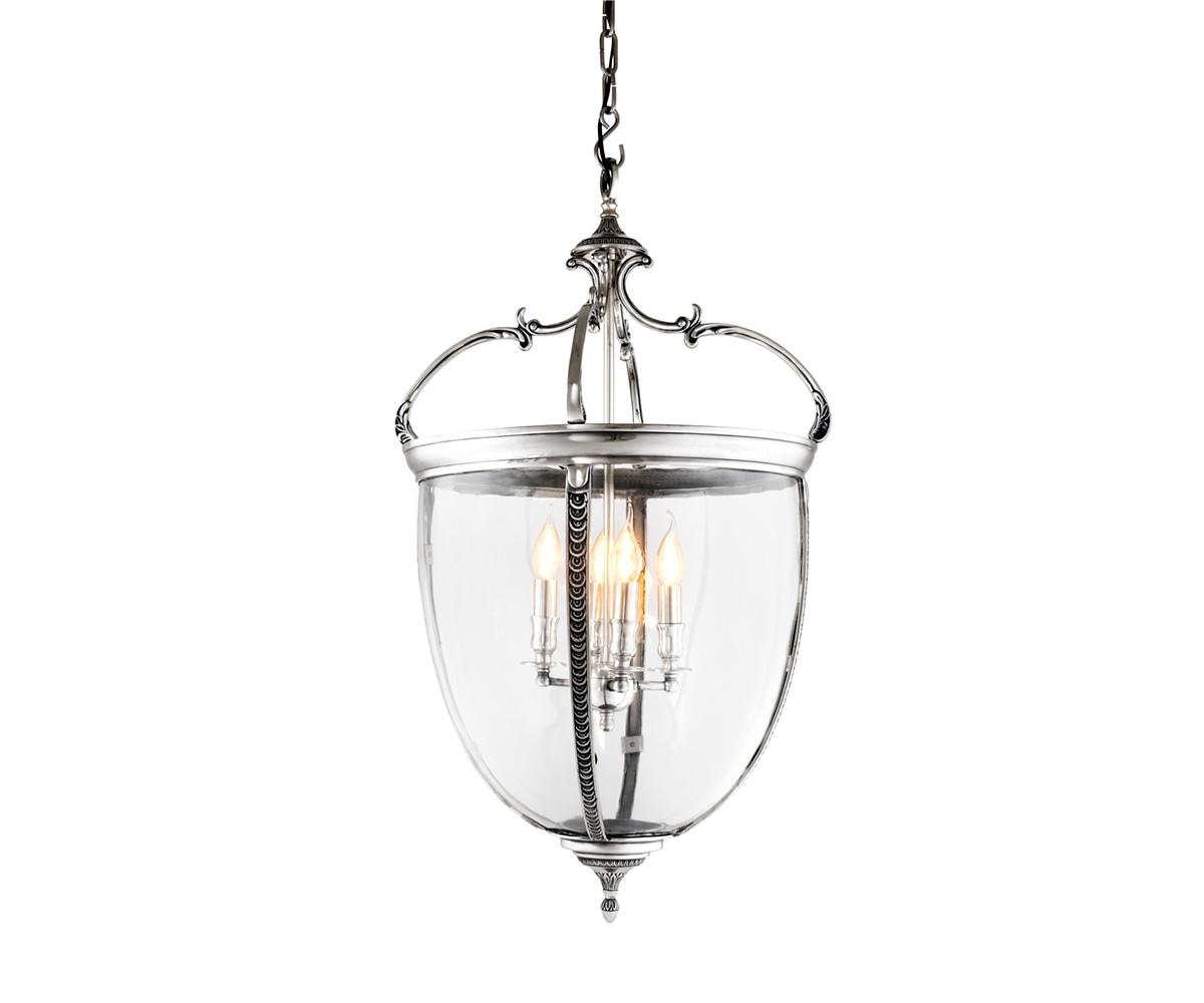 Подвесной светильникПодвесные светильники<br>Подвесной светильник-лантерна из коллекции Lantern Spencer XL на арматуре из металла цвета античное серебро. Створки плафона выполнены из прозрачного стекла. Высота светильника регулируется за счет звеньев цепи.&amp;amp;nbsp;&amp;lt;div&amp;gt;&amp;lt;br&amp;gt;&amp;lt;/div&amp;gt;&amp;lt;div&amp;gt;&amp;lt;div&amp;gt;Цоколь: E14&amp;lt;/div&amp;gt;&amp;lt;div&amp;gt;Мощность: 40W&amp;lt;/div&amp;gt;&amp;lt;div&amp;gt;Количество ламп: 4&amp;lt;/div&amp;gt;&amp;lt;/div&amp;gt;<br><br>Material: Металл<br>Height см: 90<br>Diameter см: 49