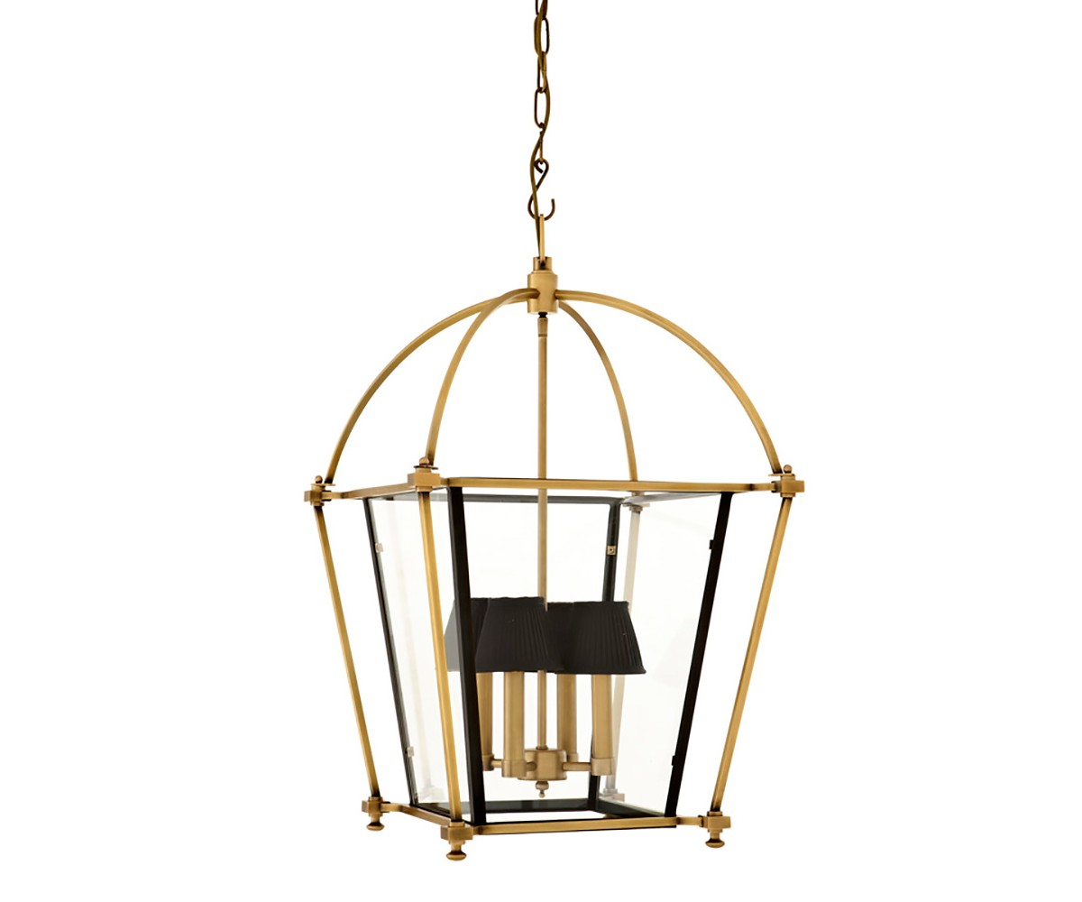 Подвесной светильникПодвесные светильники<br>Подвесной светильник-лантерна из коллекции Lantern Quant на арматуре из металла цвета латуни и темной бронзы. Створки плафона выполнены из прозрачного стекла. Высота светильника регулируется за счет звеньев цепи.&amp;amp;nbsp;&amp;lt;div&amp;gt;&amp;lt;br&amp;gt;&amp;lt;/div&amp;gt;&amp;lt;div&amp;gt;&amp;lt;div&amp;gt;Цоколь: E14&amp;lt;/div&amp;gt;&amp;lt;div&amp;gt;Мощность: 40W&amp;lt;/div&amp;gt;&amp;lt;div&amp;gt;Количество ламп: 4&amp;lt;/div&amp;gt;&amp;lt;/div&amp;gt;<br><br>Material: Металл<br>Width см: 68<br>Depth см: 68<br>Height см: 75