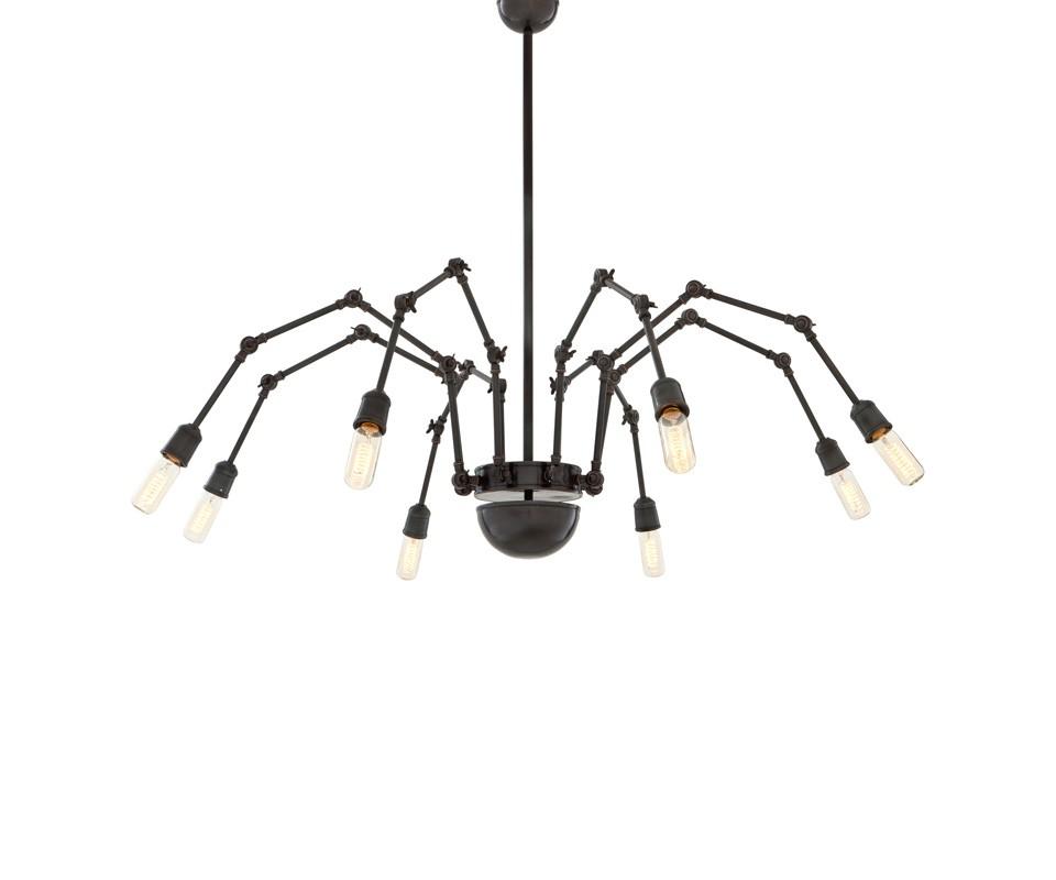 Подвесной светильник Chandelier SpiderПодвесные светильники<br>Подвесной светильник Chandelier Spider 8 на металлической арматуре цвета темной бронзы. Оригинальный дизайн ламп в виде &amp;quot;паучка&amp;quot; с регулировкой.&amp;amp;nbsp;&amp;lt;div&amp;gt;&amp;lt;br&amp;gt;&amp;lt;/div&amp;gt;&amp;lt;div&amp;gt;&amp;lt;div&amp;gt;Цоколь: E27&amp;lt;/div&amp;gt;&amp;lt;div&amp;gt;Мощность: 40W&amp;lt;/div&amp;gt;&amp;lt;div&amp;gt;Количество ламп: 8&amp;lt;/div&amp;gt;&amp;lt;/div&amp;gt;<br><br>Material: Металл<br>Ширина см: 192<br>Высота см: 101<br>Глубина см: 87