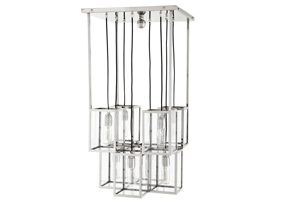 Подвесной светильник FergusonПодвесные светильники<br>Подвесной светильник-лантерна из коллекции Ferguson на арматуре из никелированного металла. Створки плафонов выполнены из прозрачного стекла.&amp;amp;nbsp;&amp;lt;div&amp;gt;&amp;lt;br&amp;gt;&amp;lt;/div&amp;gt;&amp;lt;div&amp;gt;&amp;lt;div&amp;gt;Цоколь: E27&amp;lt;/div&amp;gt;&amp;lt;div&amp;gt;Мощность: 25W&amp;lt;/div&amp;gt;&amp;lt;div&amp;gt;Количество ламп: 8&amp;lt;/div&amp;gt;&amp;lt;/div&amp;gt;<br><br>Material: Металл<br>Ширина см: 50.0<br>Высота см: 97.0<br>Глубина см: 50.0