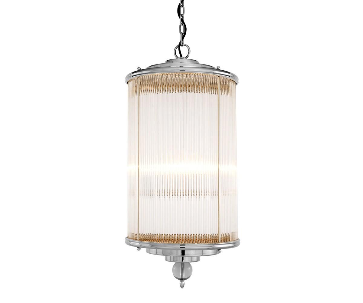 Подвесной светильникПодвесные светильники<br>Подвесной светильник-лантерна из коллекции Lantern Clarendon на арматуре из никелированного металла. Плафон выполнен из фактурного прозрачного стекла. Внутри плафона располагаются 4 лампы. Декоративный стеклянный шар под плафоном. Высота светильника регулируется за счет звеньев цепи.&amp;amp;nbsp;&amp;lt;div&amp;gt;&amp;lt;br&amp;gt;&amp;lt;/div&amp;gt;&amp;lt;div&amp;gt;&amp;lt;div&amp;gt;Цоколь: E14&amp;lt;/div&amp;gt;&amp;lt;div&amp;gt;Мощность: 60W&amp;lt;/div&amp;gt;&amp;lt;div&amp;gt;Количество ламп: 4&amp;lt;/div&amp;gt;&amp;lt;/div&amp;gt;<br><br>Material: Металл<br>Height см: 85<br>Diameter см: 38
