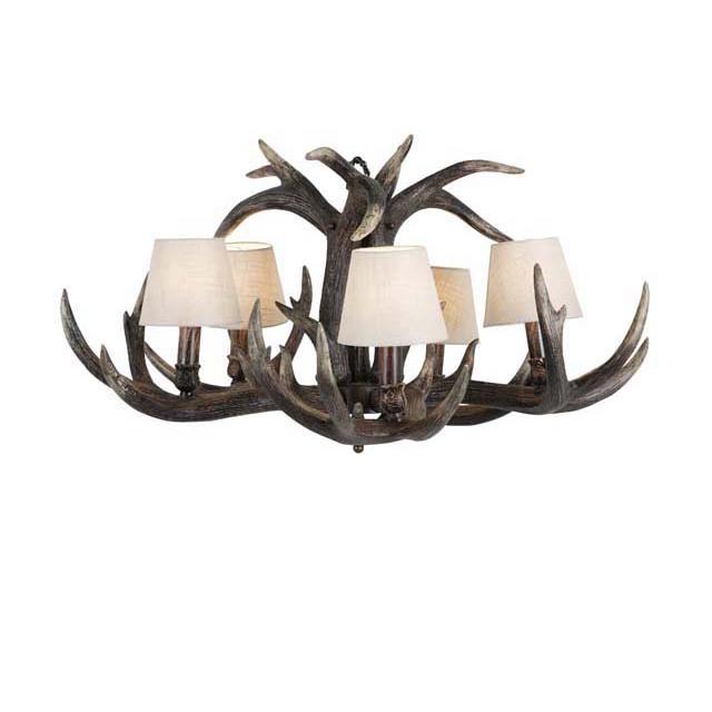 Люстра HornЛюстры подвесные<br>Chandelier Horn Small. Корпус люстры из сплава смолы коричневого цвета. 5 рожков. Абажуры как на фото.&amp;lt;div&amp;gt;&amp;lt;br&amp;gt;&amp;lt;/div&amp;gt;&amp;lt;div&amp;gt;&amp;lt;div&amp;gt;Цоколь: E14&amp;lt;/div&amp;gt;&amp;lt;div&amp;gt;Мощность: 40W&amp;lt;/div&amp;gt;&amp;lt;div&amp;gt;Количество ламп: 5&amp;lt;/div&amp;gt;&amp;lt;/div&amp;gt;<br><br>Material: Пластик<br>Width см: 90<br>Depth см: 90<br>Height см: 45