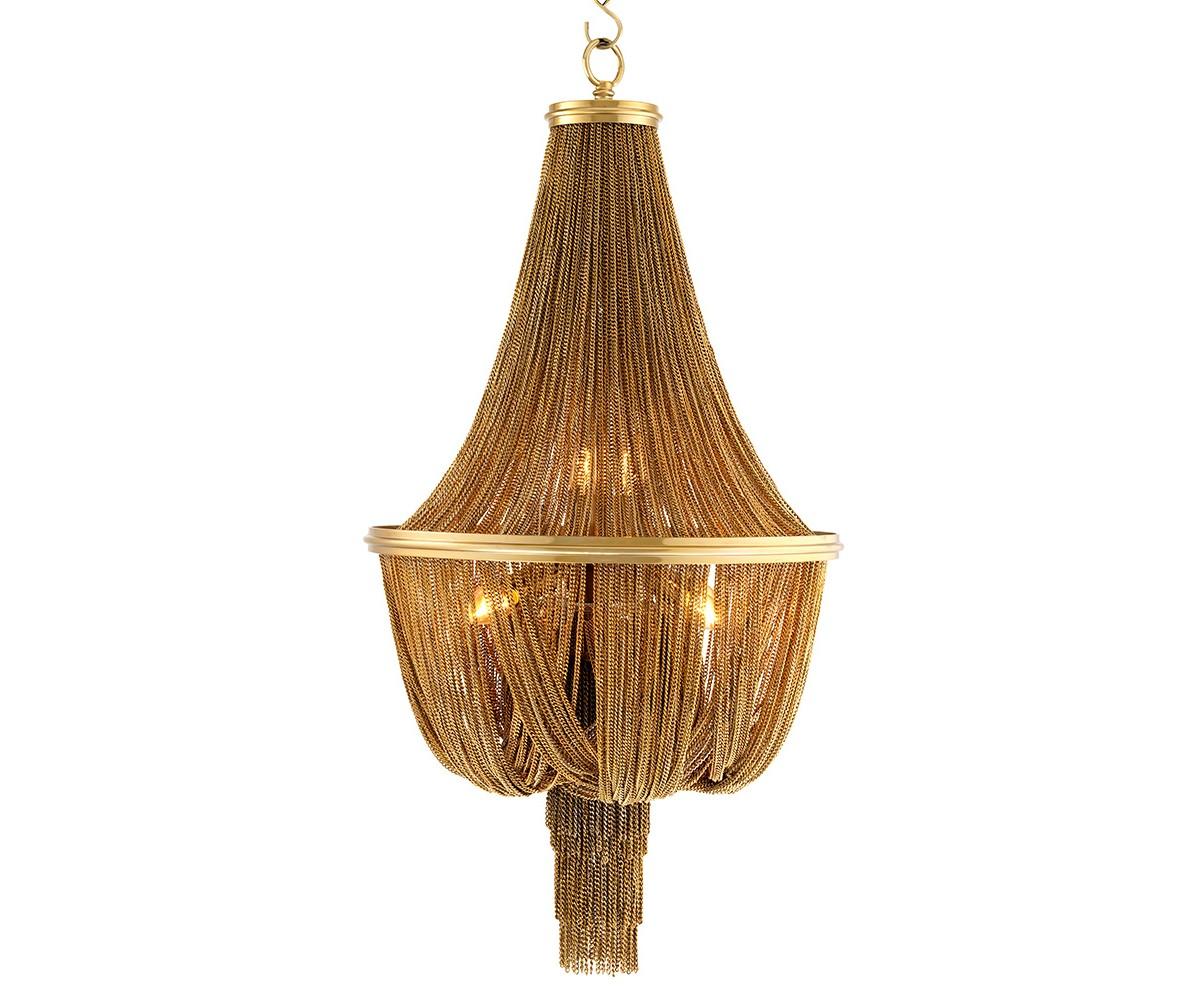 Люстра MartinezЛюстры подвесные<br>Люстра Chandelier Martinez L выполнена из металла золотого цвета. Люстра декорирована тонкими ниспадающими и собранными вместе мелкими цепочками. Высота светильника регулируется за счет звеньев цепи.&amp;amp;nbsp;&amp;lt;div&amp;gt;&amp;lt;br&amp;gt;&amp;lt;div&amp;gt;&amp;lt;div&amp;gt;Цоколь: E14&amp;lt;/div&amp;gt;&amp;lt;div&amp;gt;Мощность: 40W&amp;lt;/div&amp;gt;&amp;lt;div&amp;gt;Количество ламп: 6&amp;lt;/div&amp;gt;&amp;lt;/div&amp;gt;&amp;lt;/div&amp;gt;<br><br>Material: Металл<br>Height см: 104<br>Diameter см: 54
