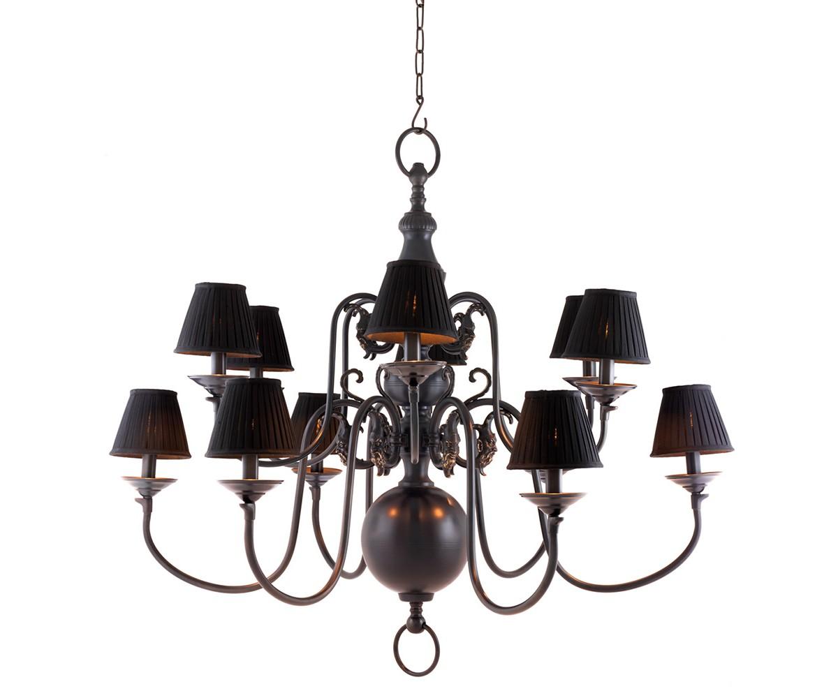 Люстра La ChapelleЛюстры подвесные<br>Люстра 12-ти рожковая Chandelier La Chapelle на арматуре из металла коричневого цвета. В комплекте текстильные абажуры белого и черного цвета. Высота светильника регулируется за счет звеньев цепи. Лампочки в комплект не входят.&amp;lt;div&amp;gt;&amp;lt;br&amp;gt;&amp;lt;/div&amp;gt;&amp;lt;div&amp;gt;&amp;lt;div&amp;gt;Цоколь: E14&amp;lt;/div&amp;gt;&amp;lt;div&amp;gt;Мощность: 40W&amp;lt;/div&amp;gt;&amp;lt;div&amp;gt;Количество ламп: 12&amp;lt;/div&amp;gt;&amp;lt;/div&amp;gt;<br><br>Material: Металл<br>Height см: 108<br>Diameter см: 115
