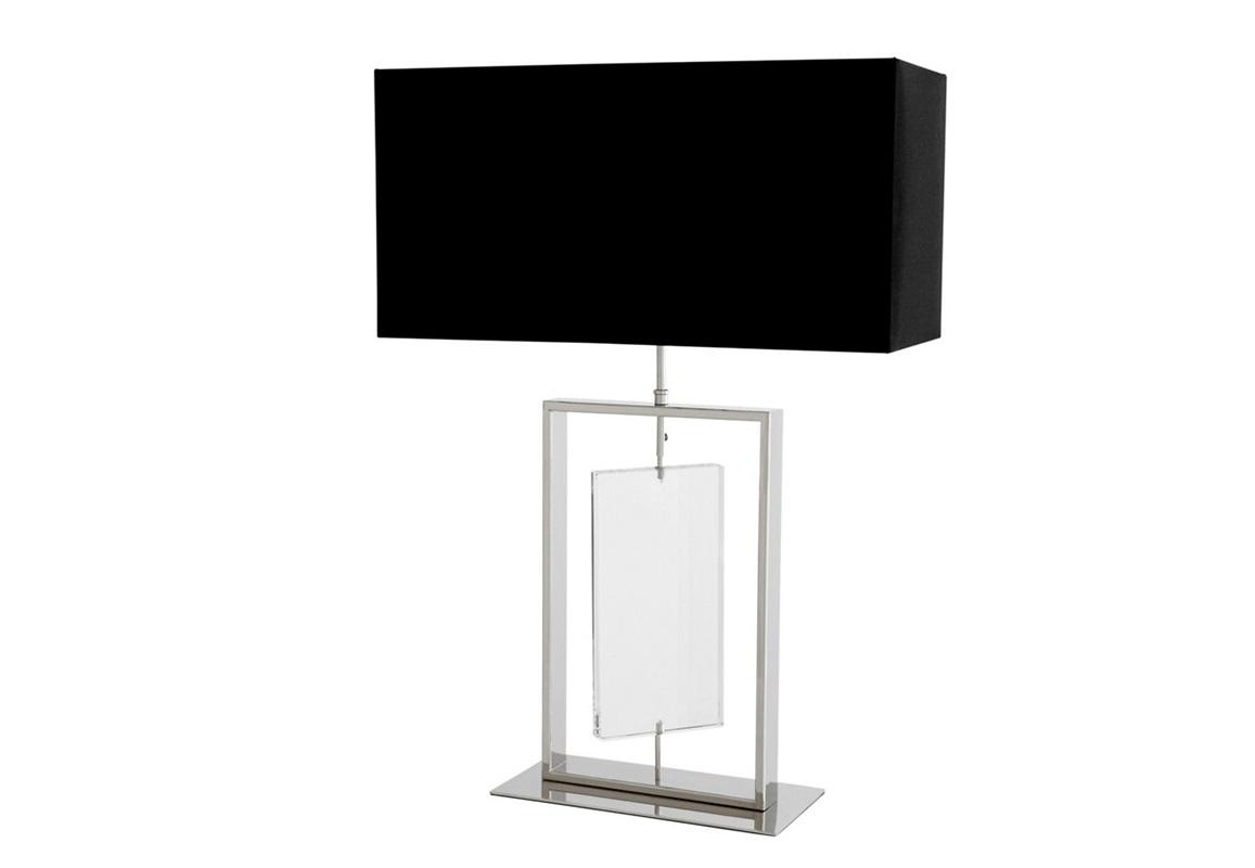Настольная лампа ForumДекоративные лампы<br>Настольная лампа Lamp Table Forum с текстильным абажуром черного цвета. Прозрачная стеклянная вставка на основании.&amp;amp;nbsp;&amp;lt;div&amp;gt;Цвет металла: никель.&amp;lt;/div&amp;gt;&amp;lt;div&amp;gt;&amp;lt;br&amp;gt;&amp;lt;/div&amp;gt;&amp;lt;div&amp;gt;Вид цоколя: Е27&amp;lt;/div&amp;gt;&amp;lt;div&amp;gt;Мощность: 60W&amp;lt;/div&amp;gt;&amp;lt;div&amp;gt;Количество ламп: 1&amp;lt;/div&amp;gt;&amp;lt;div&amp;gt;&amp;lt;br&amp;gt;&amp;lt;/div&amp;gt;<br><br>Material: Металл<br>Ширина см: 40<br>Высота см: 70<br>Глубина см: 30