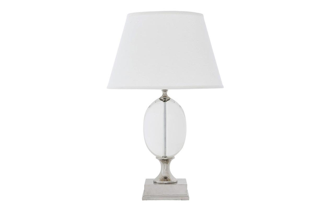 Настольная лампа GalvinДекоративные лампы<br>Настольная лампа Lamp Table Galvin с текстильным абажуром белого цвета. Прозрачная стеклянная ваза на основании.&amp;amp;nbsp;&amp;lt;div&amp;gt;Цвет металла: никель.&amp;lt;/div&amp;gt;&amp;lt;div&amp;gt;&amp;lt;br&amp;gt;&amp;lt;/div&amp;gt;&amp;lt;div&amp;gt;Вид цоколя: Е27&amp;lt;/div&amp;gt;&amp;lt;div&amp;gt;Мощность: 40W&amp;lt;/div&amp;gt;&amp;lt;div&amp;gt;Количество ламп: 1&amp;lt;/div&amp;gt;&amp;lt;div&amp;gt;&amp;lt;br&amp;gt;&amp;lt;/div&amp;gt;<br><br>Material: Стекло<br>Height см: 67<br>Diameter см: 43