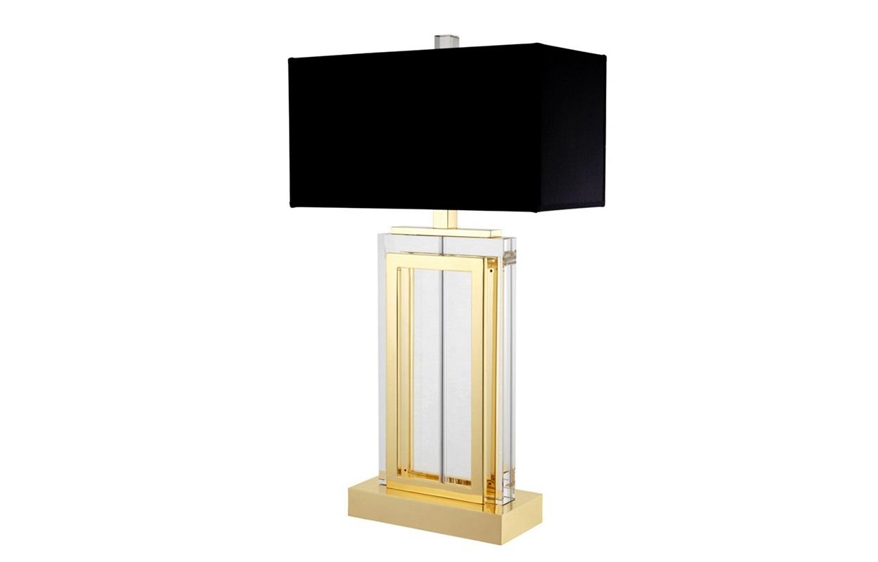 Настольная лампаДекоративные лампы<br>Настольная лампа Table Lamp Arlington на основании из прозрачного стекла с металлическими перекладинами золотого цвета.&amp;amp;nbsp;&amp;lt;div&amp;gt;Текстильный абажур черного цвета скрывает лампу.&amp;lt;/div&amp;gt;&amp;lt;div&amp;gt;&amp;lt;br&amp;gt;&amp;lt;/div&amp;gt;&amp;lt;div&amp;gt;Вид цоколя: Е27&amp;lt;/div&amp;gt;&amp;lt;div&amp;gt;Мощность: 60W&amp;lt;/div&amp;gt;&amp;lt;div&amp;gt;Количество ламп: 1&amp;lt;/div&amp;gt;&amp;lt;div&amp;gt;&amp;lt;br&amp;gt;&amp;lt;/div&amp;gt;<br><br>Material: Металл<br>Width см: 38<br>Depth см: 21<br>Height см: 64