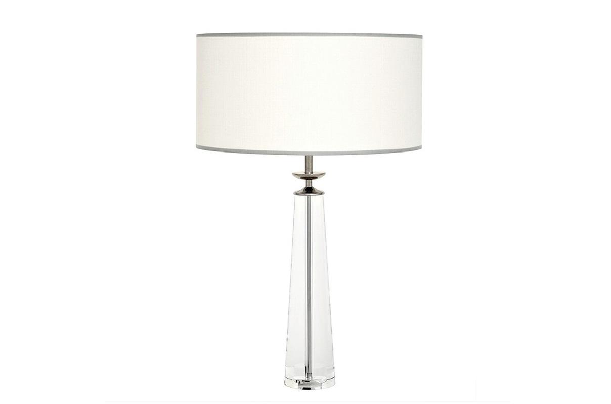 Настольная лампа ChaumonДекоративные лампы<br>Настольная лампа Table Lamp Chaumon на основании из прозрачного стекла.&amp;amp;nbsp;&amp;lt;div&amp;gt;Текстильный абажур белого цвета скрывает лампу.&amp;amp;nbsp;&amp;lt;/div&amp;gt;&amp;lt;div&amp;gt;Цвет отделки металла - никель.&amp;lt;/div&amp;gt;&amp;lt;div&amp;gt;&amp;lt;br&amp;gt;&amp;lt;/div&amp;gt;&amp;lt;div&amp;gt;Вид цоколя: Е27&amp;lt;/div&amp;gt;&amp;lt;div&amp;gt;Мощность: 60W&amp;lt;/div&amp;gt;&amp;lt;div&amp;gt;Количество ламп: 1&amp;lt;/div&amp;gt;&amp;lt;div&amp;gt;&amp;lt;br&amp;gt;&amp;lt;/div&amp;gt;<br><br>Material: Текстиль<br>Height см: 80<br>Diameter см: 50