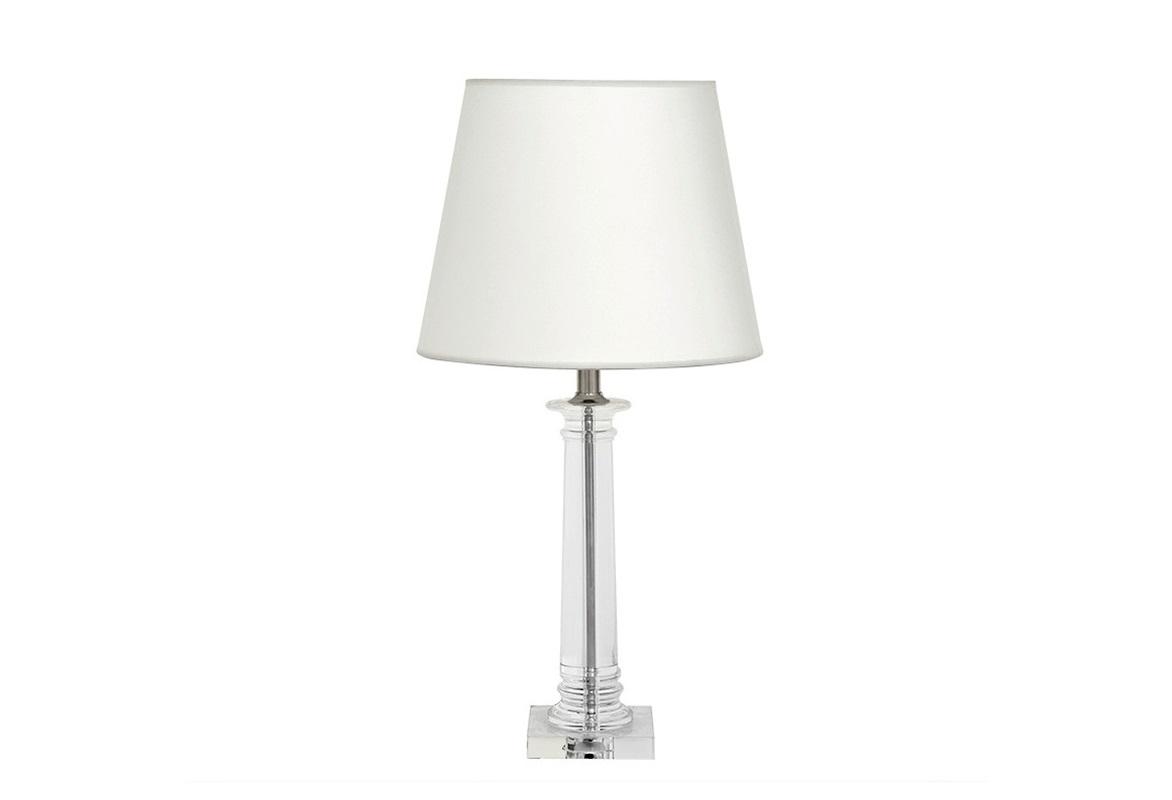 Настольная лампа Bulgari S Декоративные лампы<br>Настольная лампа Table Lamp Bulgari S на основании из прозрачного стекла.&amp;amp;nbsp;&amp;lt;div&amp;gt;Текстильный абажур белого цвета скрывает лампу.&amp;amp;nbsp;&amp;lt;/div&amp;gt;&amp;lt;div&amp;gt;Цвет отделки металла - никель.&amp;lt;/div&amp;gt;&amp;lt;div&amp;gt;&amp;lt;br&amp;gt;&amp;lt;/div&amp;gt;&amp;lt;div&amp;gt;Вид цоколя: Е27&amp;lt;/div&amp;gt;&amp;lt;div&amp;gt;Мощность: 60W&amp;lt;/div&amp;gt;&amp;lt;div&amp;gt;Количество ламп: 1&amp;lt;/div&amp;gt;&amp;lt;div&amp;gt;&amp;lt;br&amp;gt;&amp;lt;/div&amp;gt;<br><br>Material: Текстиль<br>Height см: 70<br>Diameter см: 35