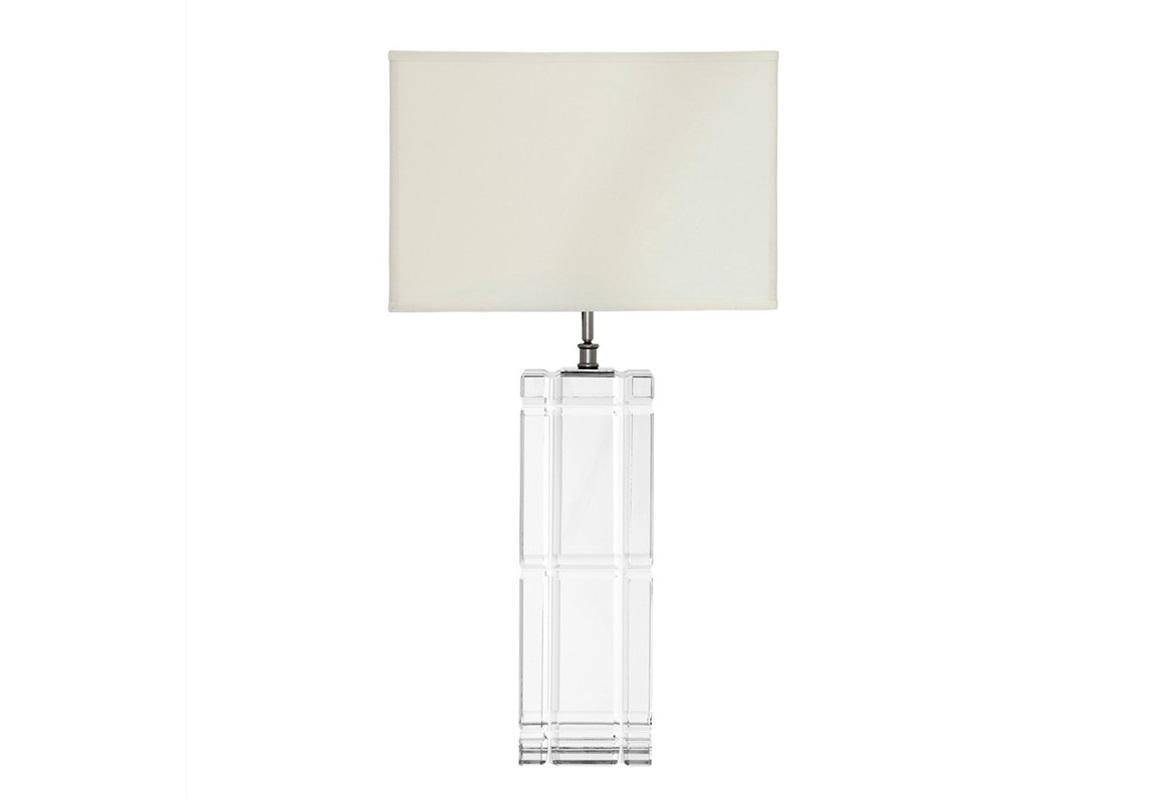 Настольная лампа  UniversalДекоративные лампы<br>Настольная лампа Table Lamp Universal в современном стиле.&amp;amp;nbsp;&amp;lt;div&amp;gt;На прямоугольное основание из прозрачного стекла установлен классический абажур из белой ткани.&amp;amp;nbsp;&amp;lt;/div&amp;gt;&amp;lt;div&amp;gt;Цвет отделки металла - никель.&amp;lt;/div&amp;gt;&amp;lt;div&amp;gt;&amp;lt;br&amp;gt;&amp;lt;/div&amp;gt;&amp;lt;div&amp;gt;Вид цоколя: Е27&amp;lt;/div&amp;gt;&amp;lt;div&amp;gt;Мощность: 60W&amp;lt;/div&amp;gt;&amp;lt;div&amp;gt;Количество ламп: 1&amp;lt;/div&amp;gt;&amp;lt;div&amp;gt;&amp;lt;br&amp;gt;&amp;lt;/div&amp;gt;<br><br>Material: Стекло<br>Ширина см: 45<br>Высота см: 88<br>Глубина см: 17