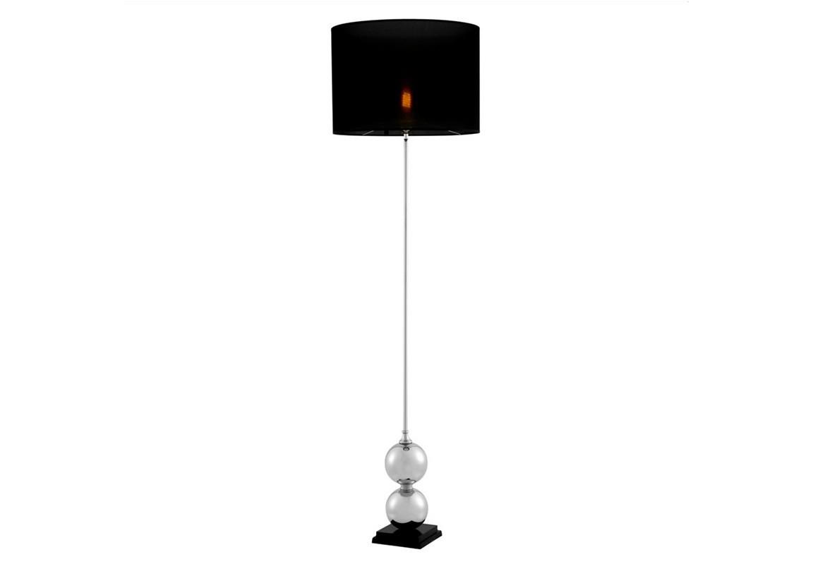 Торшер CarnivaleТоршеры<br>Торшер Floor Lamp Carnivale на основании из никелированного металла. Текстильный абажур черного цвета скрывает лампу.&amp;lt;div&amp;gt;&amp;lt;br&amp;gt;&amp;lt;/div&amp;gt;&amp;lt;div&amp;gt;&amp;lt;div&amp;gt;Цоколь: E27&amp;lt;/div&amp;gt;&amp;lt;div&amp;gt;Мощность: 40W&amp;lt;/div&amp;gt;&amp;lt;div&amp;gt;Количество ламп: 1&amp;lt;/div&amp;gt;&amp;lt;/div&amp;gt;<br><br>Material: Текстиль<br>Height см: 175<br>Diameter см: 50