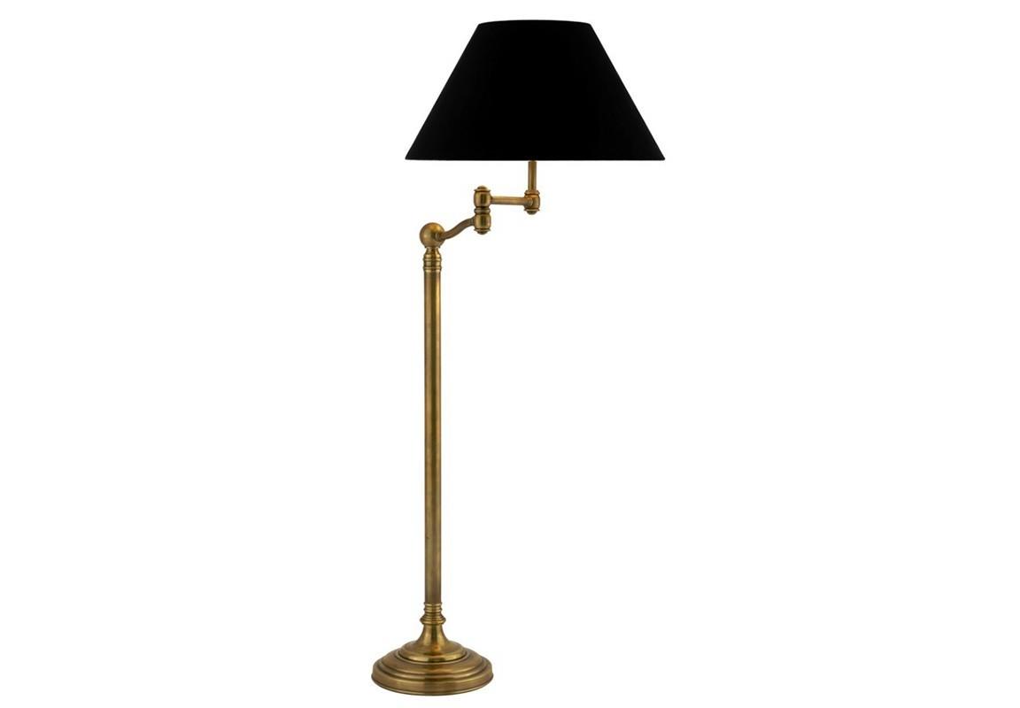 Торшер RegisТоршеры<br>Торшер Floor Lamp Regis с текстильным абажуром черного цвета. Цвет металла: состаренная латунь. Глубина светильника регулируется, лампу можно вращать.&amp;lt;div&amp;gt;&amp;lt;br&amp;gt;&amp;lt;/div&amp;gt;&amp;lt;div&amp;gt;&amp;lt;div&amp;gt;Цоколь: E27&amp;lt;/div&amp;gt;&amp;lt;div&amp;gt;Мощность: 60W&amp;lt;/div&amp;gt;&amp;lt;div&amp;gt;Количество ламп: 1&amp;lt;/div&amp;gt;&amp;lt;/div&amp;gt;<br><br>Material: Металл<br>Height см: 152<br>Diameter см: 58