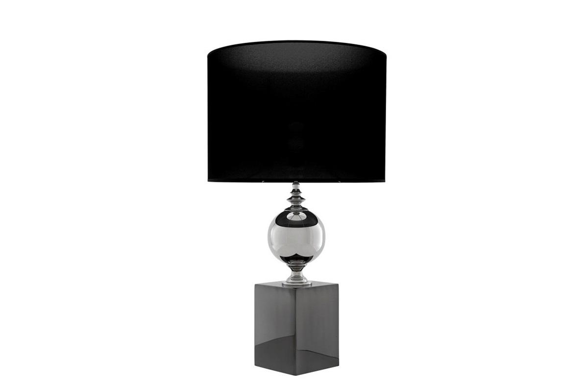 Настольная лампа Trowbridge MДекоративные лампы<br>Настольная лампа Table Lamp Trowbridge M на основании цвета черный никель.&amp;amp;nbsp;&amp;lt;div&amp;gt;Ваза выполнена из никелированного металла.&amp;amp;nbsp;&amp;lt;/div&amp;gt;&amp;lt;div&amp;gt;Текстильный абажур черного цвета.&amp;lt;/div&amp;gt;&amp;lt;div&amp;gt;&amp;lt;br&amp;gt;&amp;lt;/div&amp;gt;&amp;lt;div&amp;gt;Вид цоколя: Е27&amp;lt;/div&amp;gt;&amp;lt;div&amp;gt;Мощность: 60W&amp;lt;/div&amp;gt;&amp;lt;div&amp;gt;Количество ламп: 1&amp;lt;/div&amp;gt;&amp;lt;div&amp;gt;&amp;lt;br&amp;gt;&amp;lt;/div&amp;gt;<br><br>Material: Металл<br>Height см: 91<br>Diameter см: 50