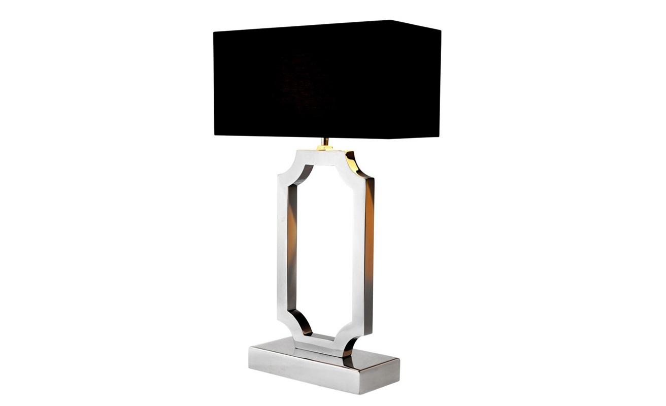 Настольная лампа SterlingtonДекоративные лампы<br>Настольная лампа Sterlington на основании из никелированного металла.&amp;amp;nbsp;&amp;lt;div&amp;gt;Текстильный абажур черного цвета.&amp;lt;/div&amp;gt;&amp;lt;div&amp;gt;&amp;lt;br&amp;gt;&amp;lt;/div&amp;gt;&amp;lt;div&amp;gt;Вид цоколя: Е27&amp;lt;/div&amp;gt;&amp;lt;div&amp;gt;Мощность: 40W&amp;lt;/div&amp;gt;&amp;lt;div&amp;gt;Количество ламп: 1&amp;lt;/div&amp;gt;&amp;lt;div&amp;gt;&amp;lt;br&amp;gt;&amp;lt;/div&amp;gt;<br><br>Material: Металл<br>Ширина см: 40.0<br>Высота см: 67<br>Глубина см: 22