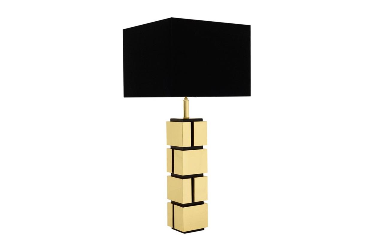 Настольная лампа ReynaudДекоративные лампы<br>Настольная лампа Table Lamp Reynaud на основании из металла золотого цвета.&amp;amp;nbsp;&amp;lt;div&amp;gt;Дизайн основания в виде кирпичной кладки.&amp;amp;nbsp;&amp;lt;/div&amp;gt;&amp;lt;div&amp;gt;Текстильный абажур черного цвета скрывает лампу.&amp;lt;/div&amp;gt;&amp;lt;div&amp;gt;&amp;lt;br&amp;gt;&amp;lt;/div&amp;gt;&amp;lt;div&amp;gt;Вид цоколя: Е27&amp;lt;/div&amp;gt;&amp;lt;div&amp;gt;Мощность: 40W&amp;lt;/div&amp;gt;&amp;lt;div&amp;gt;Количество ламп: 1&amp;lt;/div&amp;gt;&amp;lt;div&amp;gt;&amp;lt;br&amp;gt;&amp;lt;/div&amp;gt;<br><br>Material: Металл<br>Width см: 40<br>Depth см: 40<br>Height см: 80<br>Diameter см: None