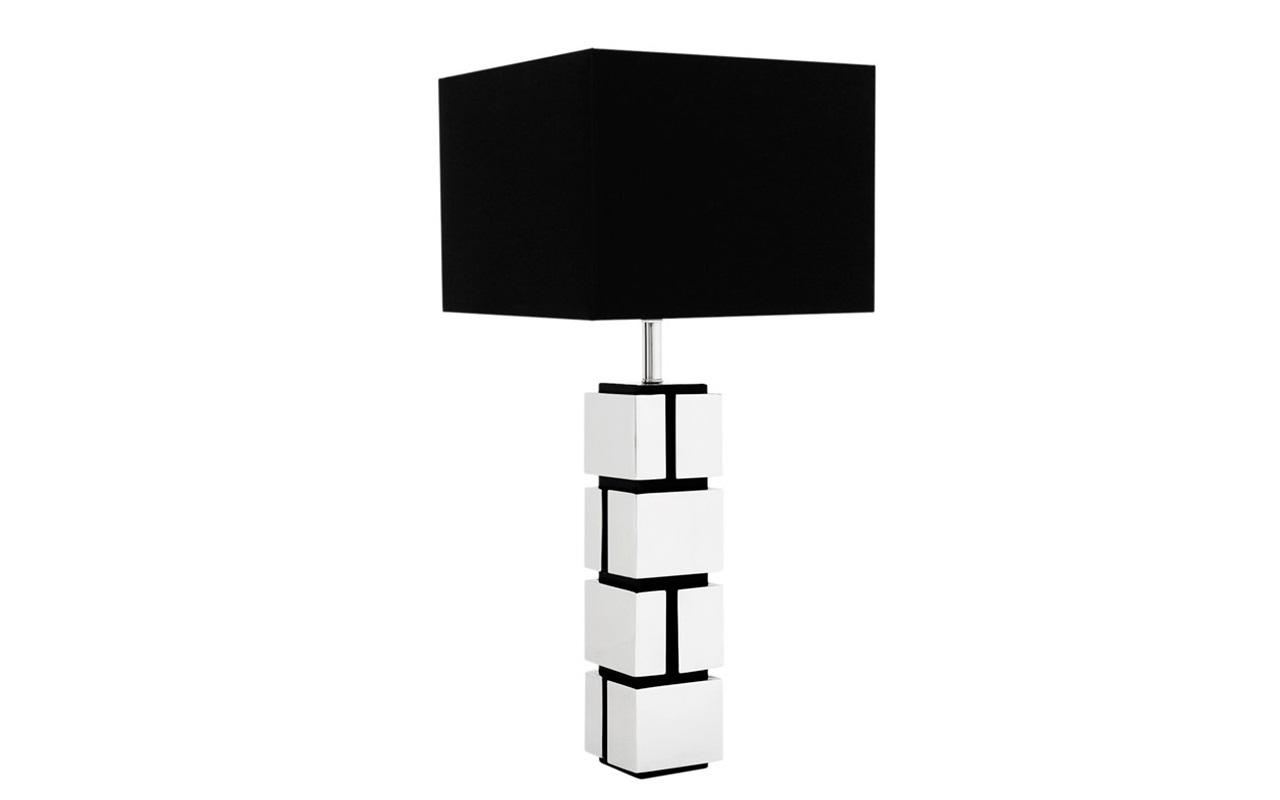 Настольная лампа ReynaudДекоративные лампы<br>Настольная лампа Table Lamp Reynaud на основании из никелированного металла.&amp;lt;div&amp;gt;&amp;amp;nbsp;Дизайн основания в виде кирпичной кладки.&amp;amp;nbsp;&amp;lt;/div&amp;gt;&amp;lt;div&amp;gt;Текстильный абажур черного цвета скрывает лампу.&amp;lt;/div&amp;gt;&amp;lt;div&amp;gt;&amp;lt;br&amp;gt;&amp;lt;/div&amp;gt;&amp;lt;div&amp;gt;Вид цоколя: Е27&amp;lt;/div&amp;gt;&amp;lt;div&amp;gt;Мощность: 40W&amp;lt;/div&amp;gt;&amp;lt;div&amp;gt;Количество ламп: 1&amp;lt;/div&amp;gt;&amp;lt;div&amp;gt;&amp;lt;br&amp;gt;&amp;lt;/div&amp;gt;<br><br>Material: Металл<br>Width см: 40<br>Depth см: 40<br>Height см: 80