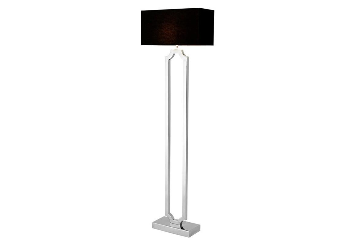 Торшер SterlingtonТоршеры<br>Торшер Floor Lamp Sterlington на основании из никелированного металла. Текстильный абажур черного цвета скрывает лампу.&amp;lt;div&amp;gt;&amp;lt;br&amp;gt;&amp;lt;/div&amp;gt;&amp;lt;div&amp;gt;&amp;lt;div&amp;gt;Цоколь: E27&amp;lt;/div&amp;gt;&amp;lt;div&amp;gt;Мощность: 40W&amp;lt;/div&amp;gt;&amp;lt;div&amp;gt;Количество ламп: 1&amp;lt;/div&amp;gt;&amp;lt;/div&amp;gt;<br><br>Material: Металл<br>Width см: 50<br>Depth см: 19<br>Height см: 169