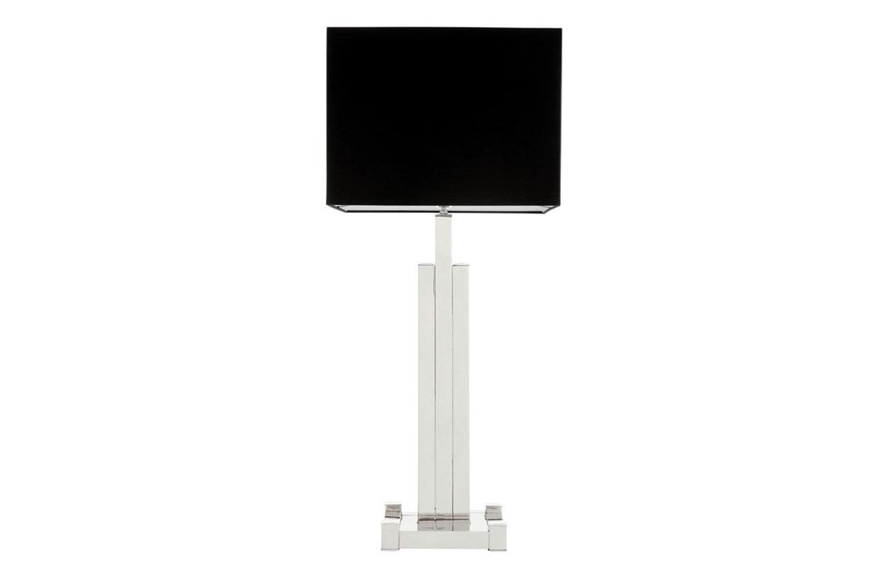 Настольная лампа HaymanДекоративные лампы<br>Настольная лампа Table Lamp Hayman на основании из никелированного металла.&amp;amp;nbsp;&amp;lt;div&amp;gt;Текстильный абажур черного цвета скрывает лампу.&amp;lt;/div&amp;gt;&amp;lt;div&amp;gt;&amp;lt;br&amp;gt;&amp;lt;/div&amp;gt;&amp;lt;div&amp;gt;Вид цоколя: Е27&amp;lt;/div&amp;gt;&amp;lt;div&amp;gt;Мощность: 40W&amp;lt;/div&amp;gt;&amp;lt;div&amp;gt;Количество ламп: 1&amp;lt;/div&amp;gt;&amp;lt;div&amp;gt;&amp;lt;br&amp;gt;&amp;lt;/div&amp;gt;<br><br>Material: Металл<br>Ширина см: 40.0<br>Высота см: 91<br>Глубина см: 22
