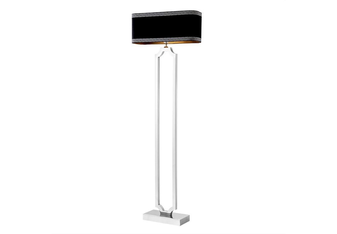 Торшер SterlingtonТоршеры<br>Торшер Floor Lamp Sterlington на основании из никелированного металла. Текстильный абажур черного цвета скрывает лампу.&amp;lt;div&amp;gt;&amp;lt;br&amp;gt;&amp;lt;/div&amp;gt;&amp;lt;div&amp;gt;&amp;lt;div&amp;gt;Цоколь: E27&amp;lt;/div&amp;gt;&amp;lt;div&amp;gt;Мощность: 40W&amp;lt;/div&amp;gt;&amp;lt;div&amp;gt;Количество ламп: 1&amp;lt;/div&amp;gt;&amp;lt;/div&amp;gt;<br><br>Material: Металл<br>Width см: 55<br>Depth см: 19<br>Height см: 169