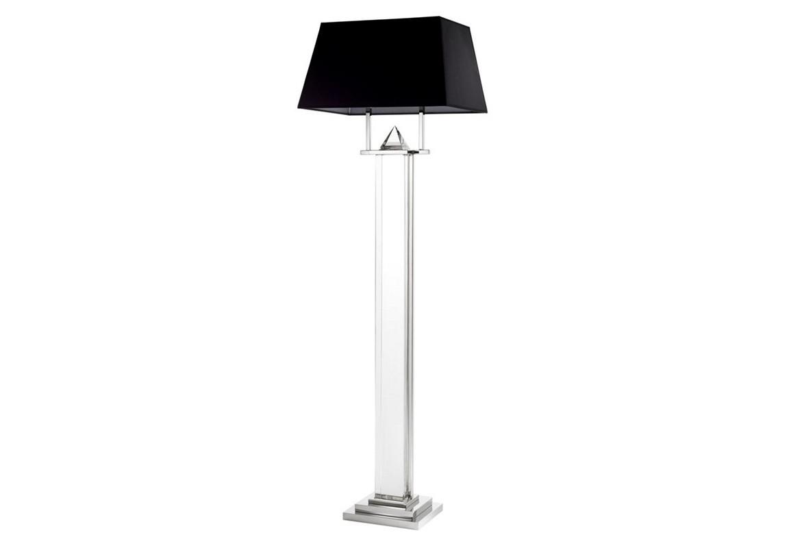 Торшер NobuТоршеры<br>Торшер Floor Lamp Nobu на никелированном основании. Текстильный абажур черного цвета. Основание выполнено из прозрачного стекла, декор в виде драгоценного камня.&amp;lt;div&amp;gt;&amp;lt;br&amp;gt;&amp;lt;/div&amp;gt;&amp;lt;div&amp;gt;&amp;lt;div&amp;gt;Цоколь: E27&amp;lt;/div&amp;gt;&amp;lt;div&amp;gt;Мощность: 60W&amp;lt;/div&amp;gt;&amp;lt;div&amp;gt;Количество ламп: 2&amp;lt;/div&amp;gt;&amp;lt;/div&amp;gt;<br><br>Material: Металл<br>Ширина см: 50<br>Высота см: 158<br>Глубина см: 50