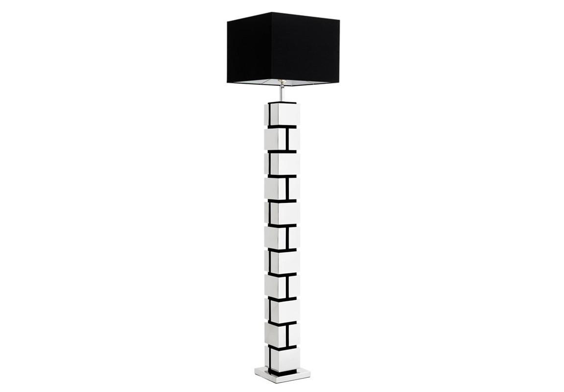 Торшер ReynaudТоршеры<br>Торшер Floor Lamp Reynaud на основании из никелированного металла. Дизайн основания в виде кирпичной кладки. Текстильный абажур черного цвета скрывает лампу.&amp;lt;div&amp;gt;&amp;lt;br&amp;gt;&amp;lt;/div&amp;gt;&amp;lt;div&amp;gt;&amp;lt;div&amp;gt;Цоколь: E27&amp;lt;/div&amp;gt;&amp;lt;div&amp;gt;Мощность: 40W&amp;lt;/div&amp;gt;&amp;lt;div&amp;gt;Количество ламп: 1&amp;lt;/div&amp;gt;&amp;lt;/div&amp;gt;<br><br>Material: Металл<br>Ширина см: 40.0<br>Высота см: 176.0<br>Глубина см: 40.0