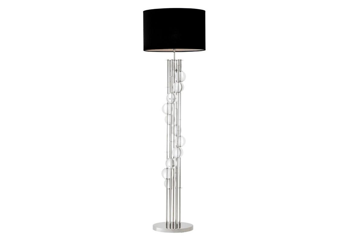 Торшер LorenzoТоршеры<br>Торшер Floor Lamp Lorenzo на никелированном основании. Текстильный плиссированный абажур черного цвета. На основании декоративные шары из прозрачного стекла.&amp;lt;div&amp;gt;&amp;lt;br&amp;gt;&amp;lt;/div&amp;gt;&amp;lt;div&amp;gt;&amp;lt;div&amp;gt;Цоколь: E27&amp;lt;/div&amp;gt;&amp;lt;div&amp;gt;Мощность: 60W&amp;lt;/div&amp;gt;&amp;lt;div&amp;gt;Количество ламп: 1&amp;lt;/div&amp;gt;&amp;lt;/div&amp;gt;<br><br>Material: Металл<br>Height см: 176<br>Diameter см: 48