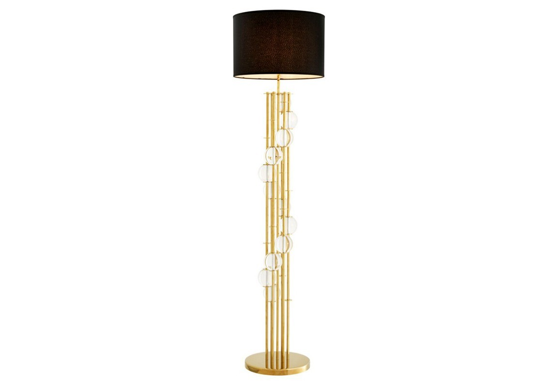 Торшер LorenzoТоршеры<br>Торшер Floor Lamp Lorenzo на металлическом основании золотого цвета. Текстильный плиссированный абажур черного цвета. На основании декоративные шары из прозрачного стекла.&amp;lt;div&amp;gt;&amp;lt;br&amp;gt;&amp;lt;/div&amp;gt;&amp;lt;div&amp;gt;&amp;lt;div&amp;gt;Цоколь: E27&amp;lt;/div&amp;gt;&amp;lt;div&amp;gt;Мощность: 60W&amp;lt;/div&amp;gt;&amp;lt;div&amp;gt;Количество ламп: 1&amp;lt;/div&amp;gt;&amp;lt;/div&amp;gt;<br><br>Material: Металл<br>Высота см: 176