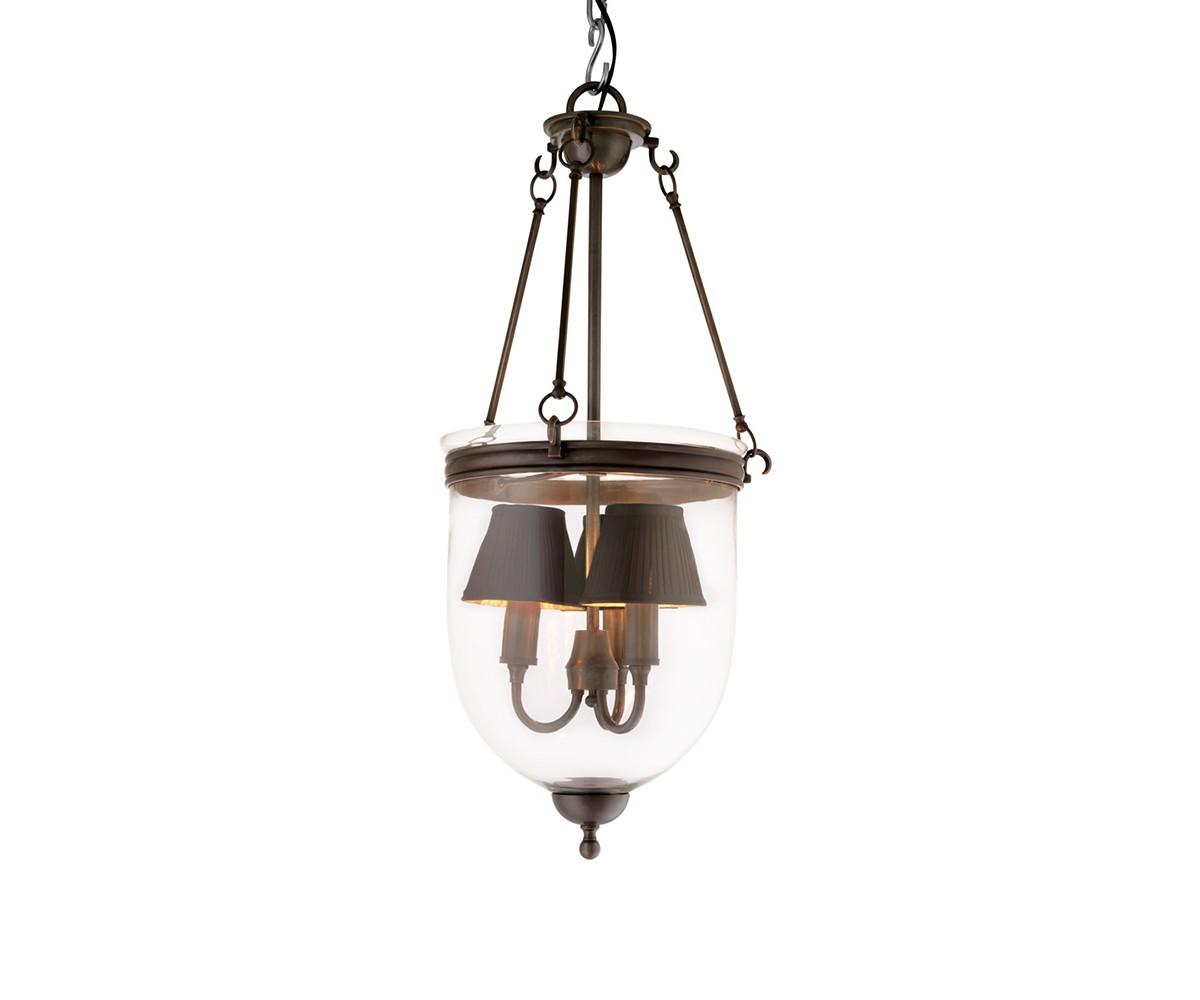 Подвесной светильникПодвесные светильники<br>Подвесной светильник-лантерна из коллекции Lantern Cameron S на арматуре из металла темно-коричневого цвета. Плафон выполнен из прозрачного стекла. Внутри плафона располагаются 3 лампы. Высота светильника регулируется за счет звеньев цепи.&amp;amp;nbsp;&amp;lt;div&amp;gt;&amp;lt;br&amp;gt;&amp;lt;/div&amp;gt;&amp;lt;div&amp;gt;&amp;lt;div&amp;gt;Цоколь: E27&amp;lt;/div&amp;gt;&amp;lt;div&amp;gt;Мощность: 60W&amp;lt;/div&amp;gt;&amp;lt;div&amp;gt;Количество ламп: 3&amp;lt;/div&amp;gt;&amp;lt;/div&amp;gt;<br><br>Material: Стекло<br>Height см: 70<br>Diameter см: 32