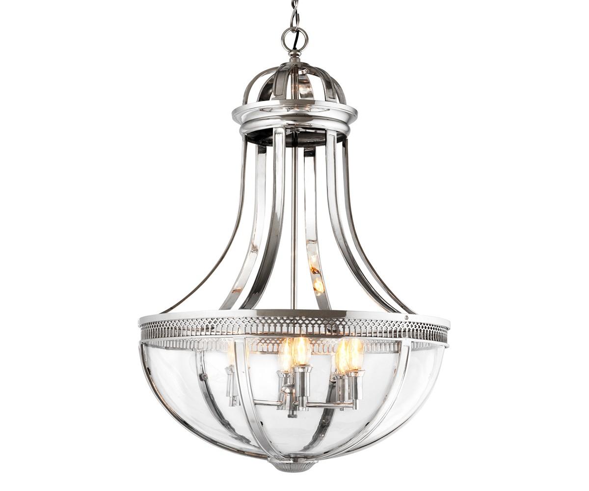 Подвесная люстра Capitol Hill LЛюстры подвесные<br>Подвесная люстра Capitol Hill L с оригинальным дизайном выполнен из никелированного металла. Нижняя часть плафона из прозрачного стекла. Высота светильника регулируется за счет звеньев цепи.&amp;amp;nbsp;&amp;lt;div&amp;gt;&amp;lt;br&amp;gt;&amp;lt;/div&amp;gt;&amp;lt;div&amp;gt;&amp;lt;div&amp;gt;Цоколь: E14&amp;lt;/div&amp;gt;&amp;lt;div&amp;gt;Мощность: 40W&amp;lt;/div&amp;gt;&amp;lt;div&amp;gt;Количество ламп: 6&amp;lt;/div&amp;gt;&amp;lt;/div&amp;gt;<br><br>Material: Металл<br>Ширина см: 61.0<br>Высота см: 84.0<br>Глубина см: 61.0