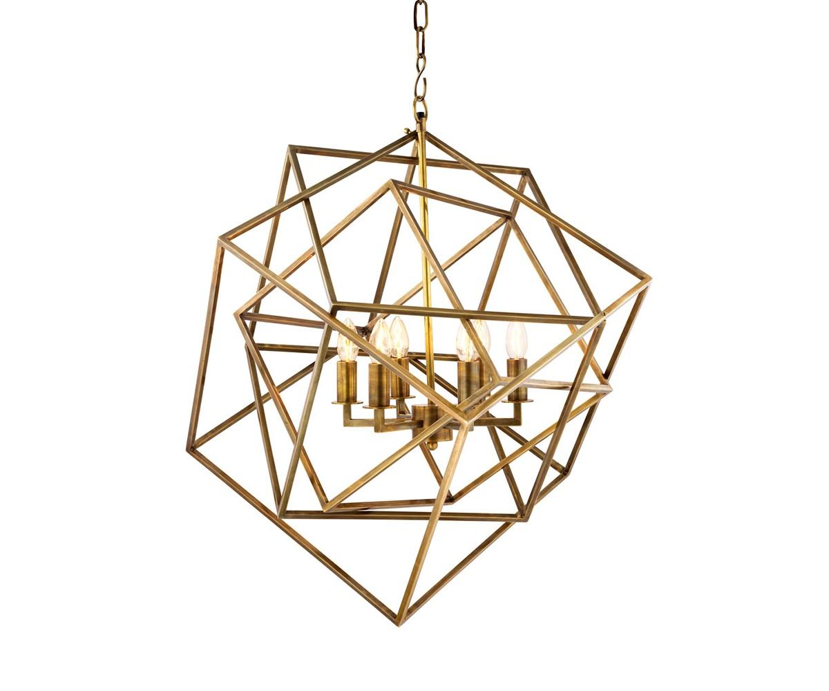 Подвесной светильник MatrixПодвесные светильники<br>Подвесной светильник Chandelier Matrix с оригинальным дизайном в виде геометрических фигур выполнен из металла цвета латунь. Высота светильника регулируется за счет звеньев цепи.&amp;amp;nbsp;&amp;lt;div&amp;gt;&amp;lt;br&amp;gt;&amp;lt;/div&amp;gt;&amp;lt;div&amp;gt;&amp;lt;div&amp;gt;Цоколь: E14&amp;lt;/div&amp;gt;&amp;lt;div&amp;gt;Мощность: 40W&amp;lt;/div&amp;gt;&amp;lt;div&amp;gt;Количество ламп: 6&amp;lt;/div&amp;gt;&amp;lt;/div&amp;gt;<br><br>Material: Металл<br>Width см: 70.5<br>Depth см: 70.5<br>Height см: 78