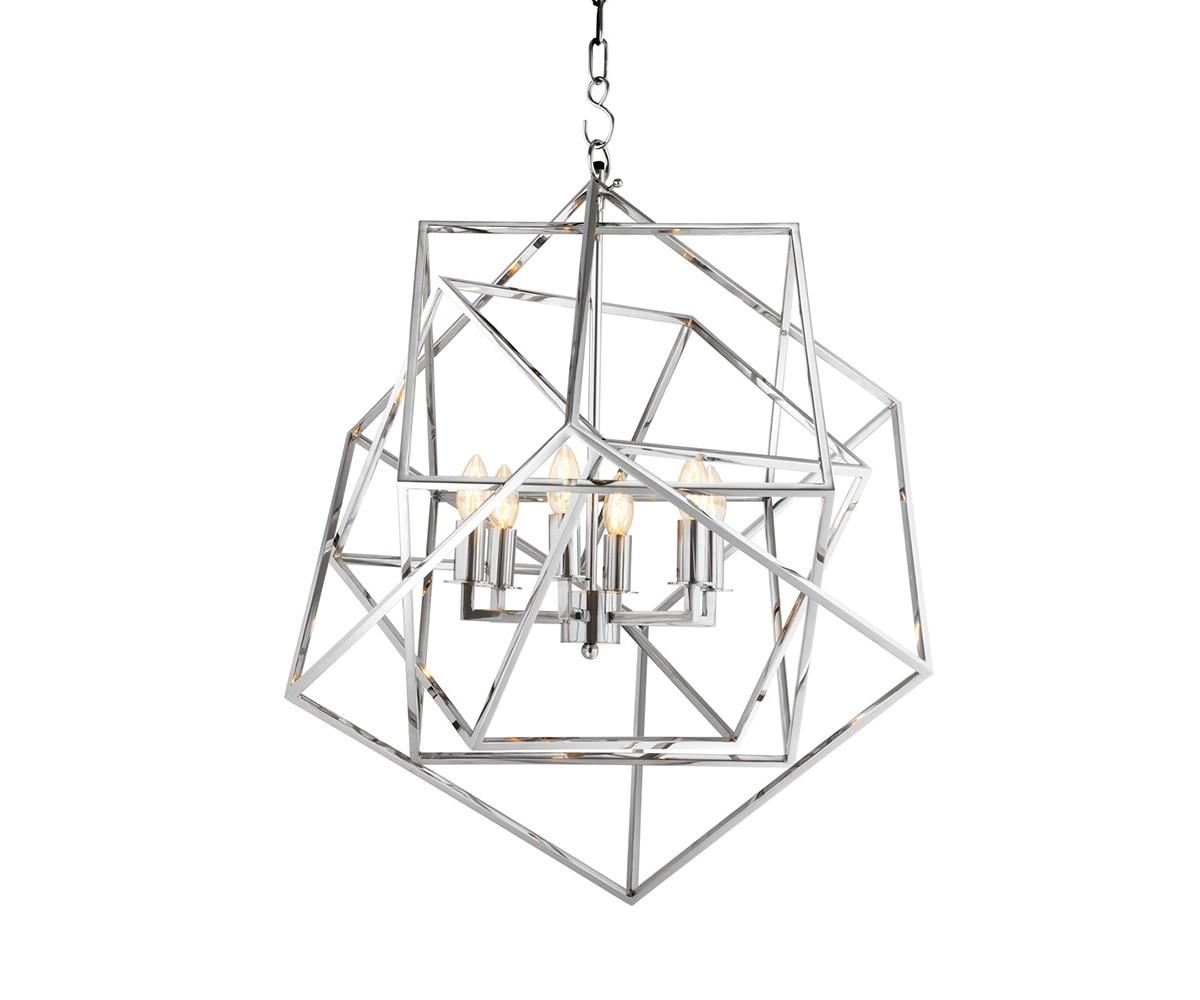 Подвесная люстра MatrixЛюстры подвесные<br>Подвесная люстра Chandelier Matrix с оригинальным дизайном в виде геометрических фигур выполнен из никелированного металла. Высота светильника регулируется за счет звеньев цепи.&amp;amp;nbsp;&amp;lt;div&amp;gt;&amp;lt;br&amp;gt;&amp;lt;/div&amp;gt;&amp;lt;div&amp;gt;&amp;lt;div&amp;gt;Цоколь: E14&amp;lt;/div&amp;gt;&amp;lt;div&amp;gt;Мощность: 40W&amp;lt;/div&amp;gt;&amp;lt;div&amp;gt;Количество ламп: 6&amp;lt;/div&amp;gt;&amp;lt;/div&amp;gt;<br><br>Material: Металл<br>Ширина см: 70<br>Высота см: 78<br>Глубина см: 70
