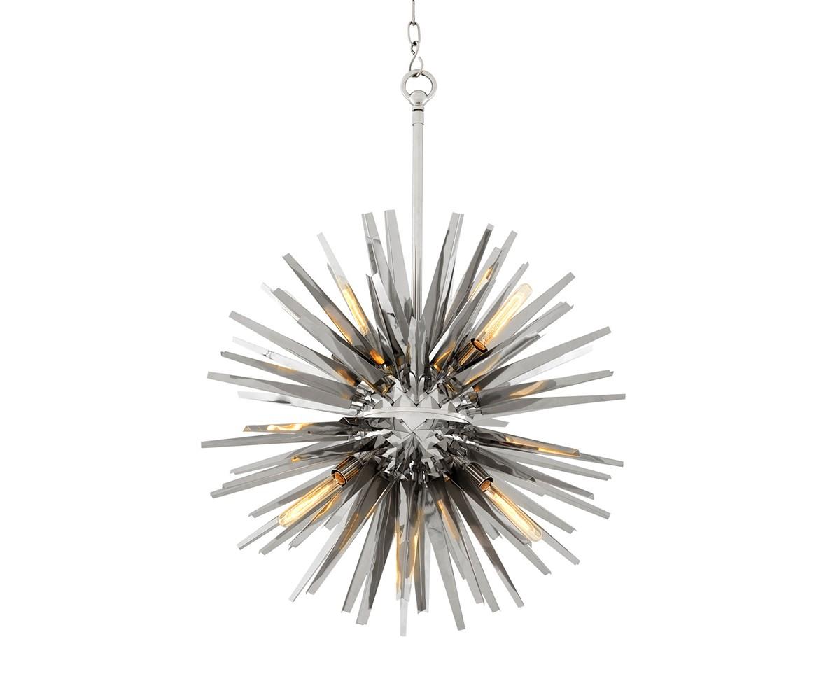 Подвесной светильник Gregorian LПодвесные светильники<br>Подвесной светильник Gregorian L с оригинальным дизайном в виде &amp;quot;колючки&amp;quot; выполнен из полированной нержавеющей стали. Высота светильника регулируется за счет звеньев цепи.&amp;amp;nbsp;<br><br>Material: Металл<br>Ширина см: 82<br>Высота см: 82<br>Глубина см: 82