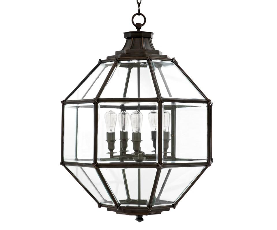 Подвесная люстраЛюстры подвесные<br>Подвесная люстра из коллекции Lantern Owen L на металлической арматуре цвета темная бронза. Плафон выполнен из прозрачного стекла. Высота светильника регулируется за счет звеньев цепи.&amp;amp;nbsp;&amp;lt;div&amp;gt;&amp;lt;br&amp;gt;&amp;lt;/div&amp;gt;&amp;lt;div&amp;gt;&amp;lt;div&amp;gt;Цоколь: E27&amp;lt;/div&amp;gt;&amp;lt;div&amp;gt;Мощность: 40W&amp;lt;/div&amp;gt;&amp;lt;div&amp;gt;Количество ламп: 5&amp;lt;/div&amp;gt;&amp;lt;/div&amp;gt;<br><br>Material: Металл<br>Height см: 98<br>Diameter см: 80