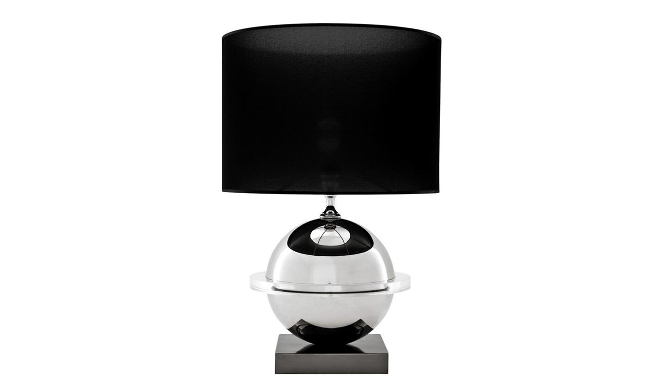 Настольная лампа OrbitДекоративные лампы<br>Настольная лампа Table Lamp Orbit на основании из комбинированного черного и никелированного металла.&amp;amp;nbsp;&amp;lt;div&amp;gt;Текстильный абажур черного цвета скрывает лампу.&amp;lt;/div&amp;gt;&amp;lt;div&amp;gt;&amp;lt;br&amp;gt;&amp;lt;/div&amp;gt;&amp;lt;div&amp;gt;Вид цоколя: Е27&amp;lt;/div&amp;gt;&amp;lt;div&amp;gt;Мощность: 40W&amp;lt;/div&amp;gt;&amp;lt;div&amp;gt;Количество ламп: 1&amp;lt;/div&amp;gt;&amp;lt;div&amp;gt;&amp;lt;br&amp;gt;&amp;lt;/div&amp;gt;<br><br>Material: Металл<br>Высота см: 78