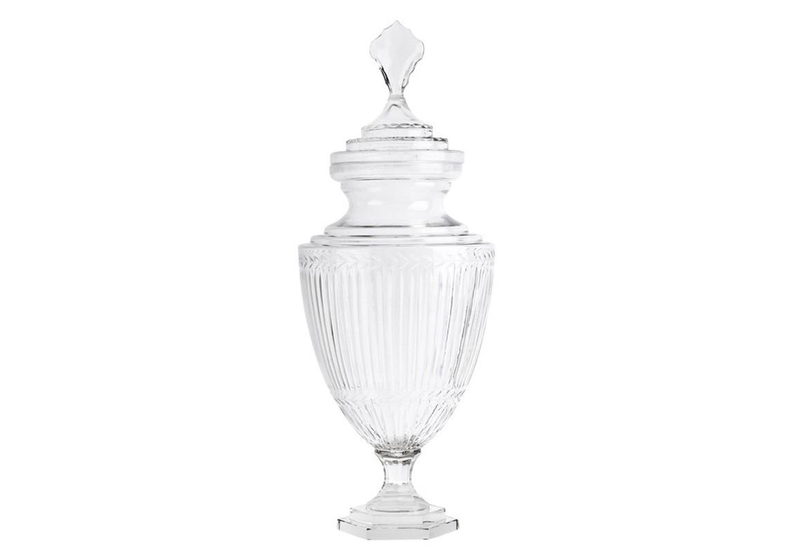 ВазаВазы<br>Ваза Vase Harcourt glass L с крышкой. Выполнена из прозрачного стекла.<br><br>Material: Стекло<br>Высота см: 73