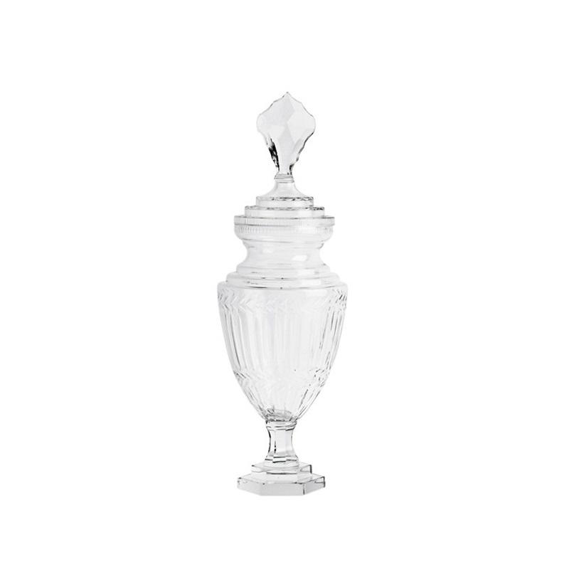 ВазаВазы<br>Ваза Vase Harcourt glass S с крышкой. Выполнена из прозрачного стекла.<br><br>Material: Стекло<br>Height см: 51<br>Diameter см: 17