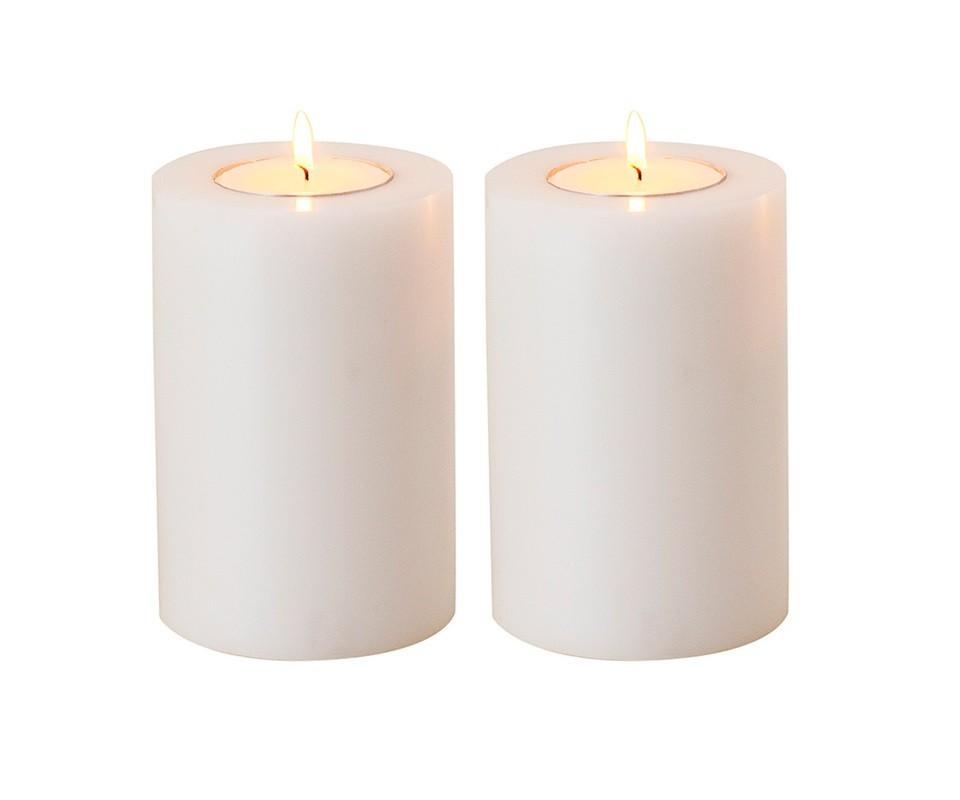 Подсвечник (2шт)Подсвечники<br>Artificial Candele Set of 2 - набор из двух подсвечников. Имитация большой свечи.&amp;amp;nbsp;<br><br>Material: Пластик<br>Ширина см: 10.0<br>Высота см: 18.0<br>Глубина см: 10.0