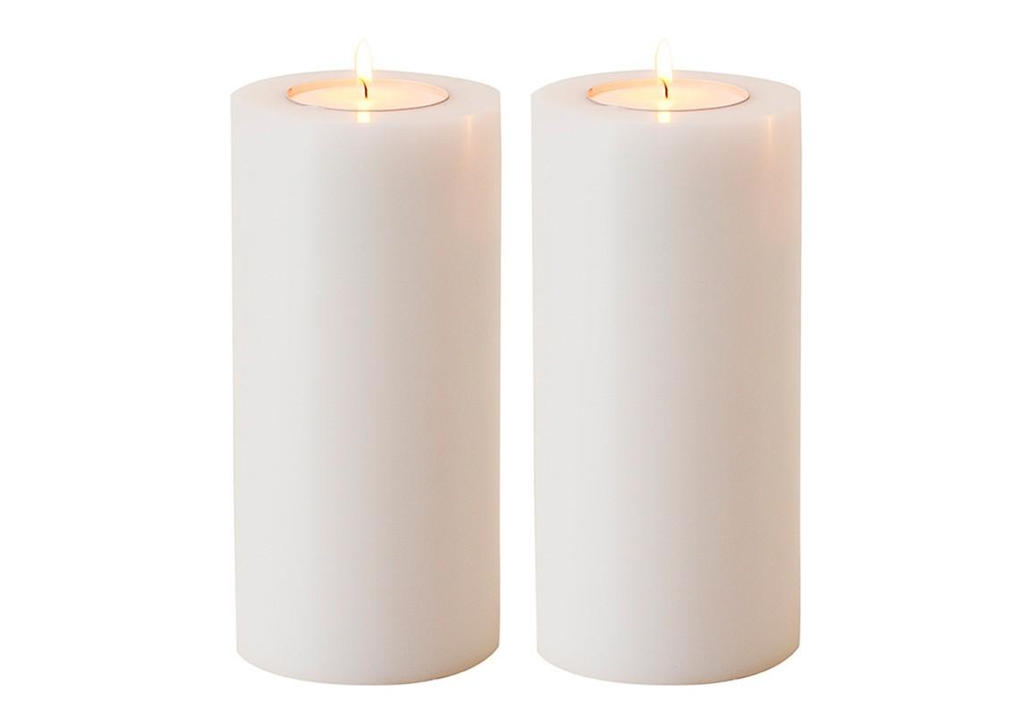 Подсвечник (2шт)Подсвечники<br>Artificial Candele Set of 2 - набор из двух подсвечников. Имитация большой свечи.&amp;amp;nbsp;<br><br>Material: Пластик<br>Height см: 21<br>Diameter см: 10