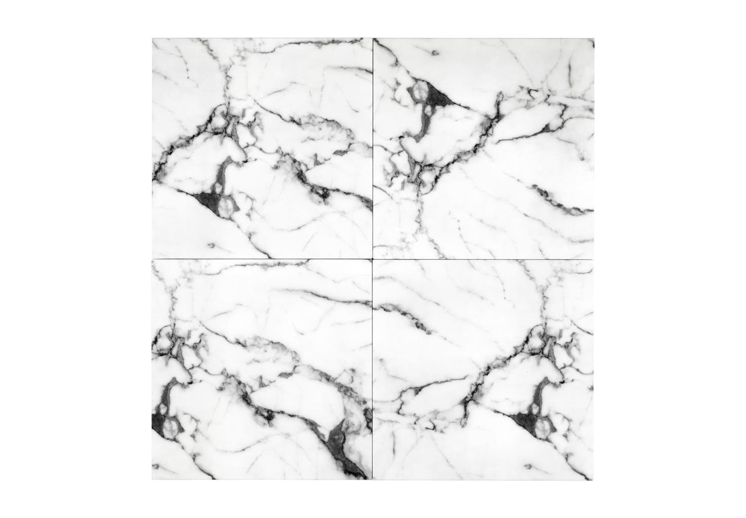 АксессуарПанно<br>Декоративная настенная панель из 4-х частей Wall decoration faux marble set of 4 выполнена из мрамора белого цвета.<br><br>Material: Мрамор<br>Width см: 60<br>Height см: 60