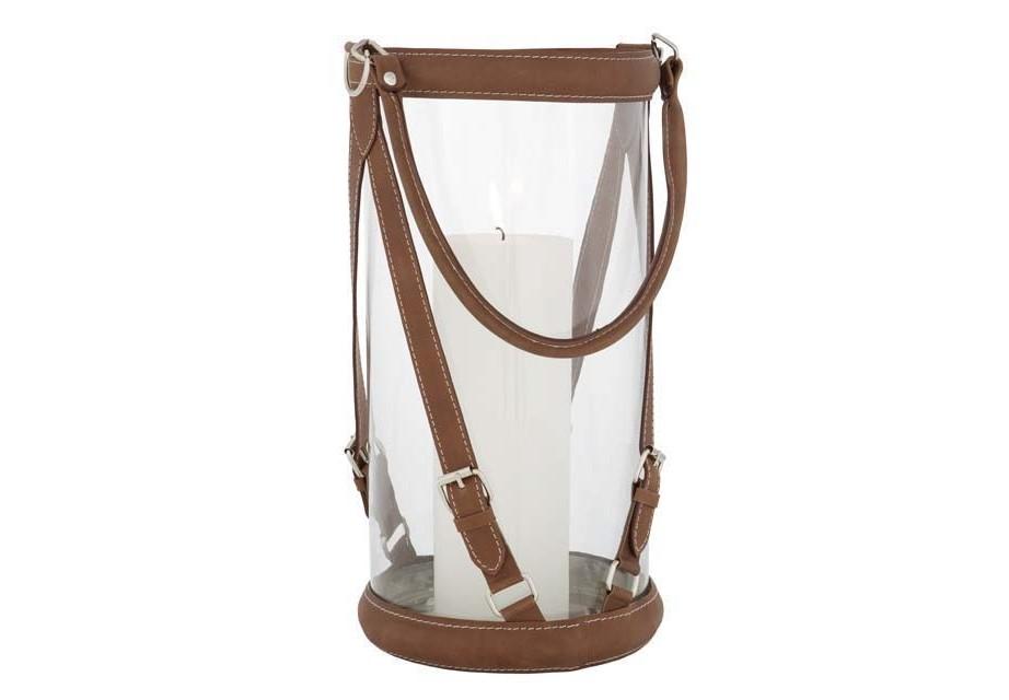 ПодсвечникПодсвечники<br>Hurricane Equestrian XL - подсвечник. Стеклянная колба с ремнями из светло-коричневой кожи.<br><br>Material: Кожа<br>Height см: 42<br>Diameter см: 20