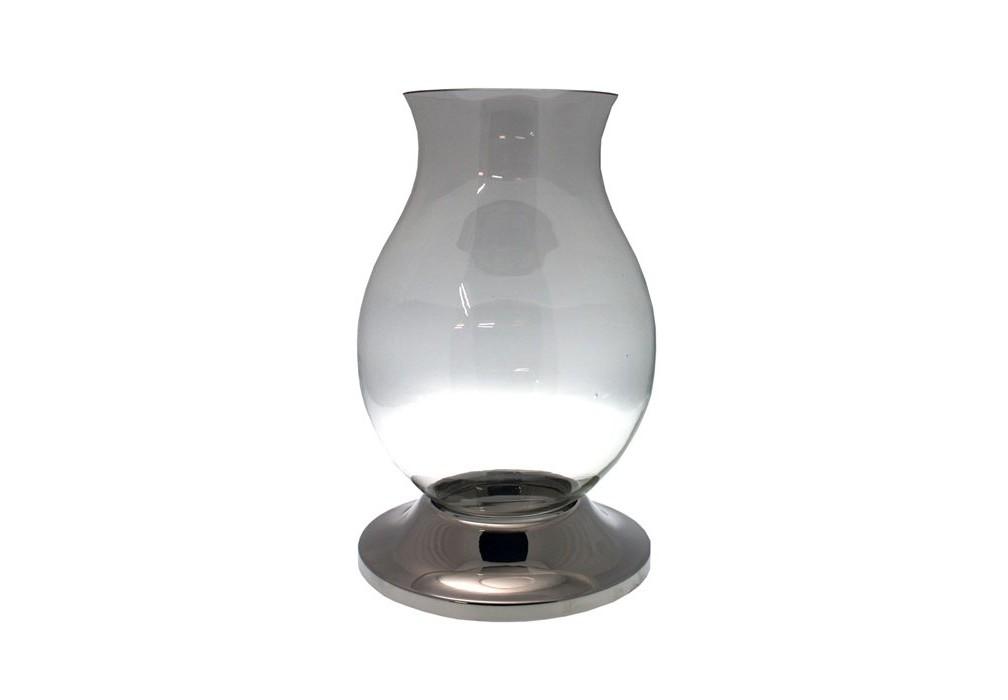 ПодсвечникПодсвечники<br>Подсвечник Hurricane Bravada выполнен из прозрачного выдувного стекла и никелированного металла.<br><br>Material: Стекло<br>Height см: 55<br>Diameter см: 34