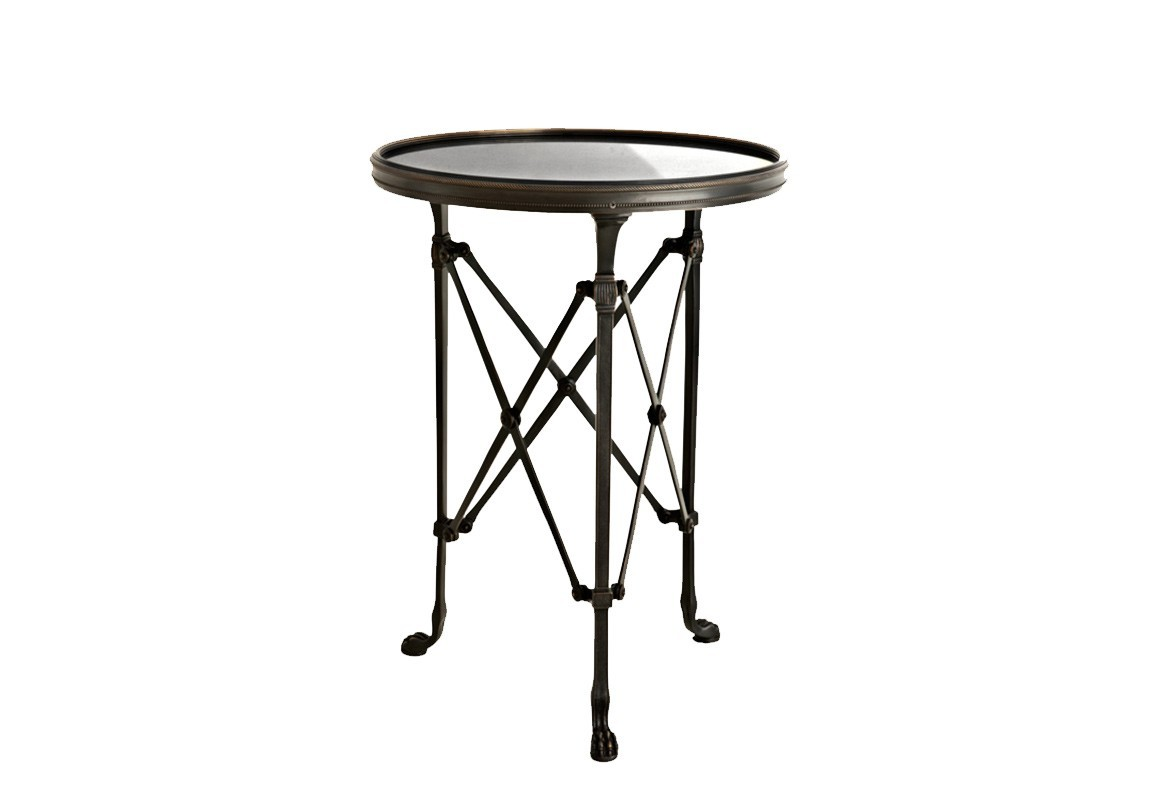 СтолПриставные столики<br>Столик с оригинальным дизайном St Etienne выполнен из металла, цвет &amp;amp;quot;пушечной бронзы&amp;amp;quot;. Столешница из гранита.<br><br>Material: Металл<br>Height см: 56<br>Diameter см: 42